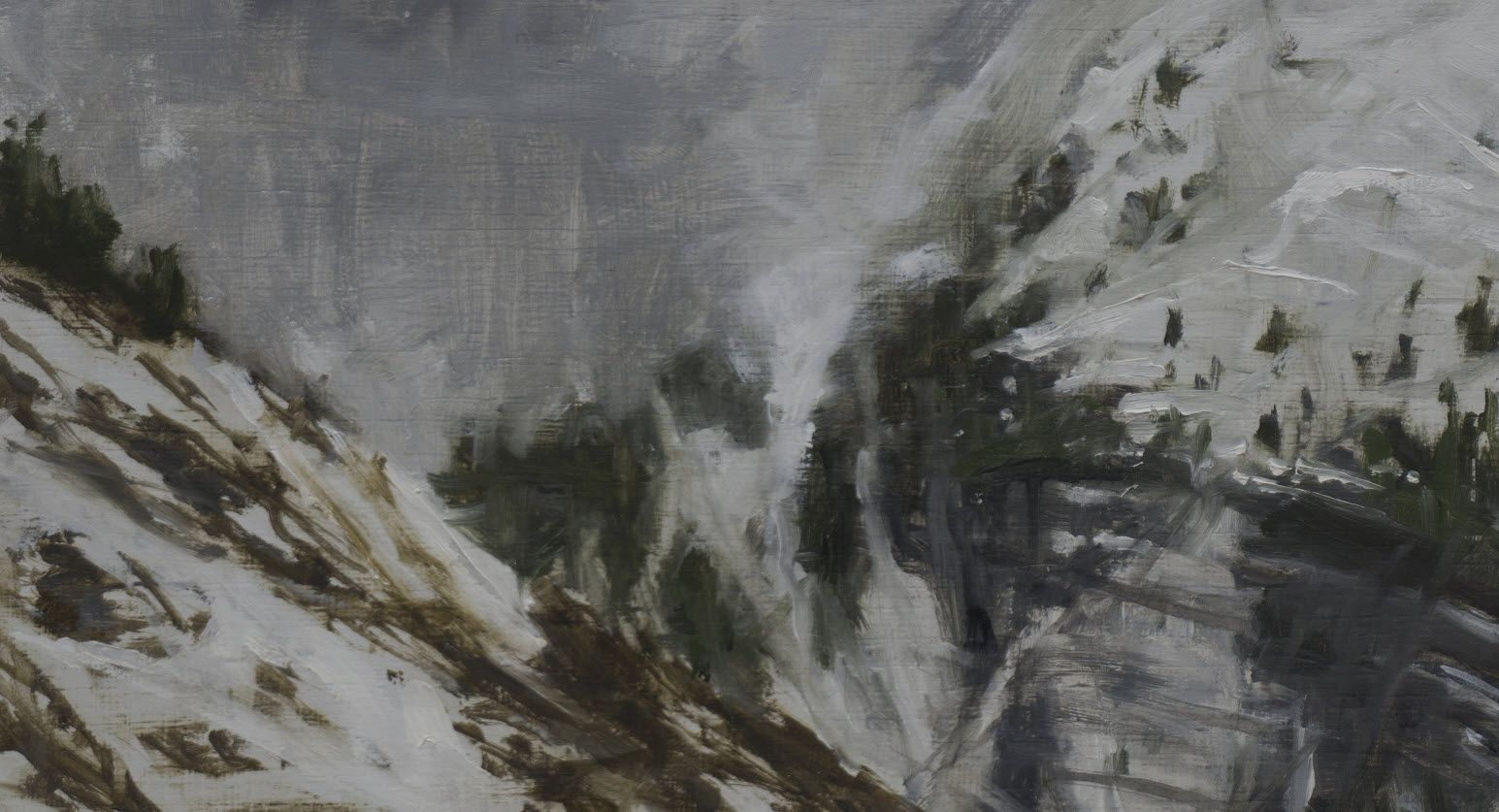 Benasque Study 4, Snow collection,Calo  Carratalá,Painting, detail 1