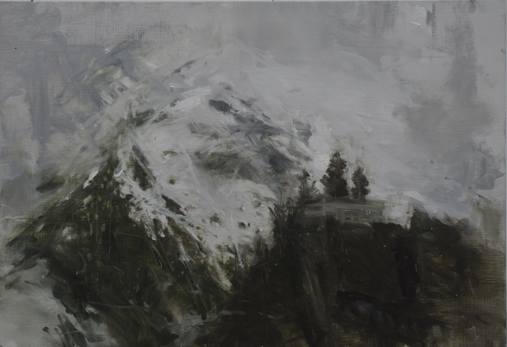 Benasque Study 5, Snow collection,Calo  Carratalá,Painting