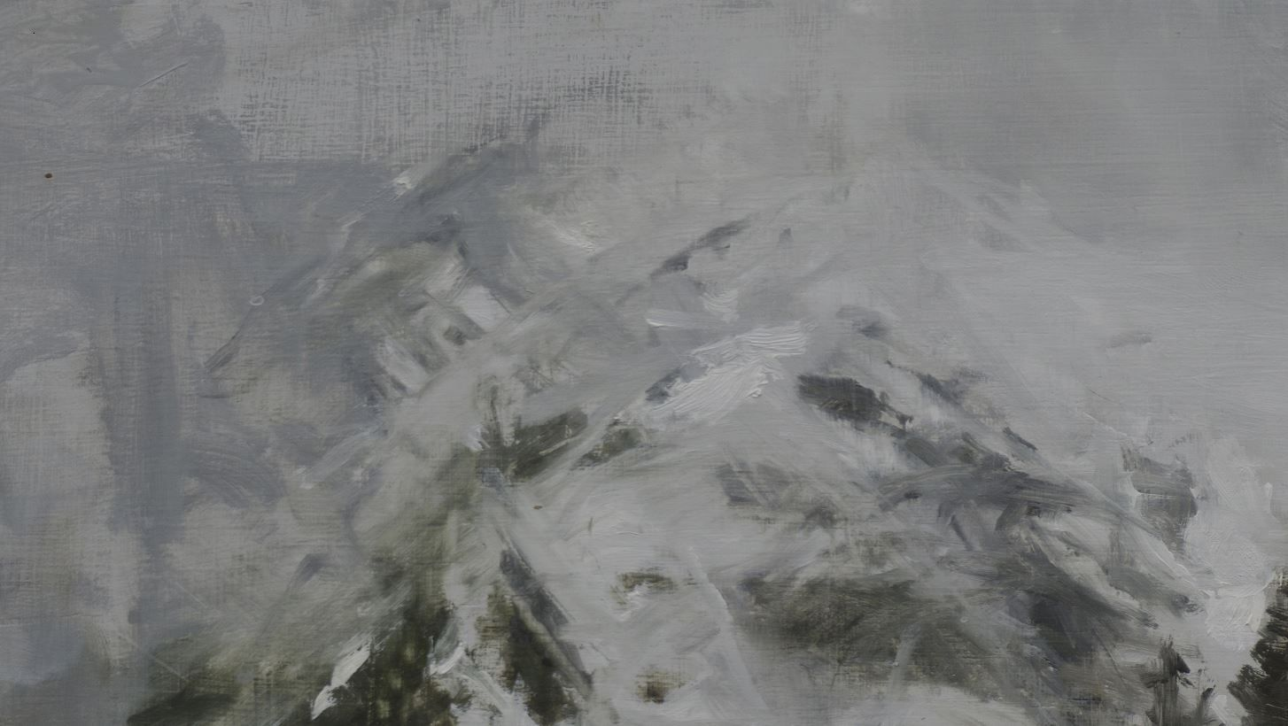 Benasque Study 5, Snow collection,Calo  Carratalá,Painting, detail 1