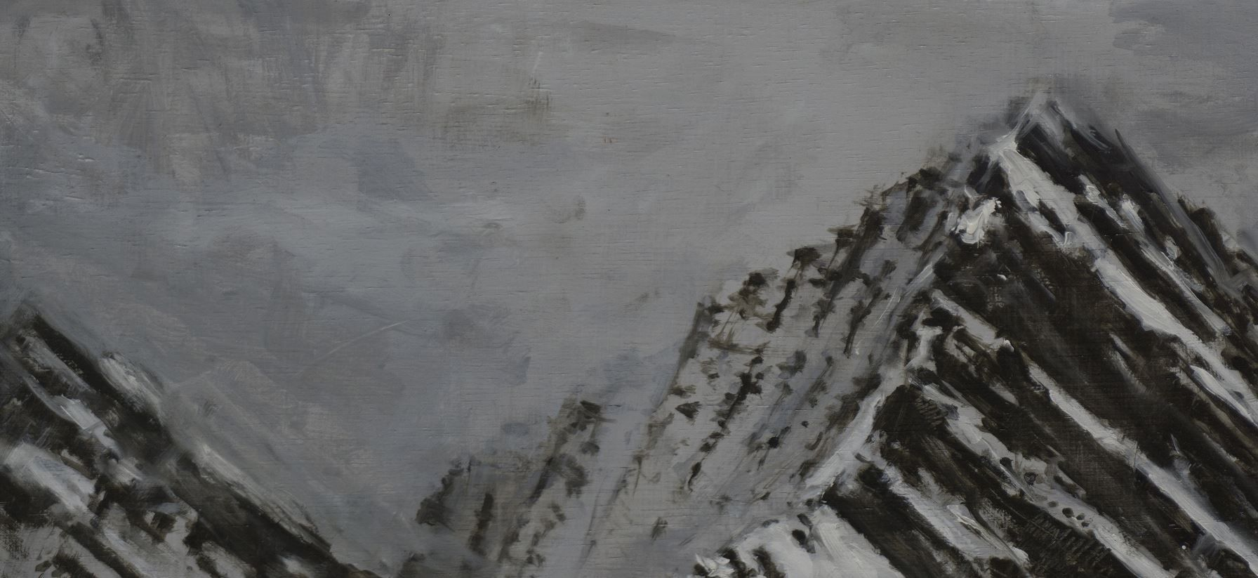 Pyrenees Study, Snow collection,Calo  Carratalá,Contemporary painting, detail 2