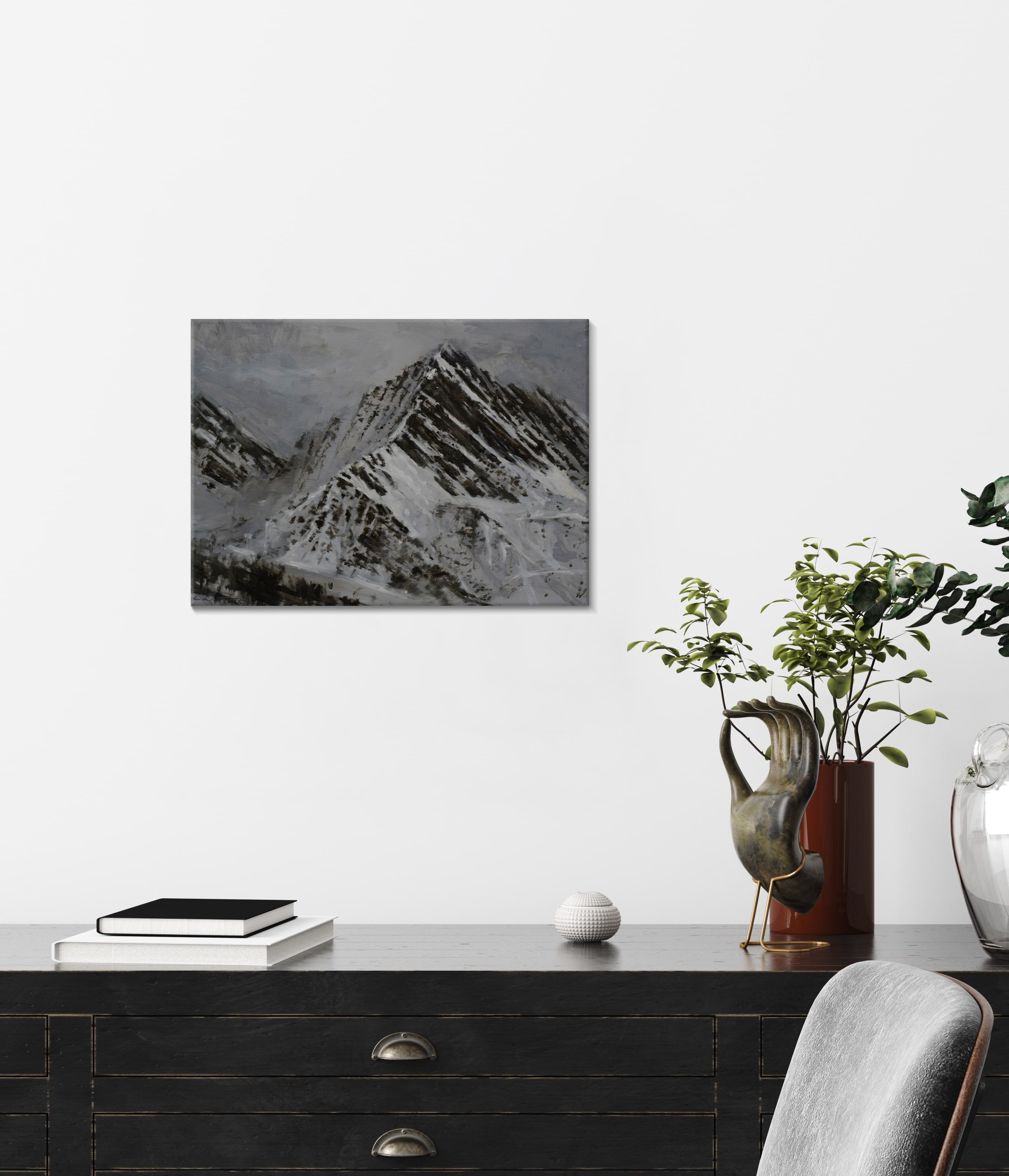 Pyrenees Study, Snow collection,Calo  Carratalá,Contemporary painting, detail 1
