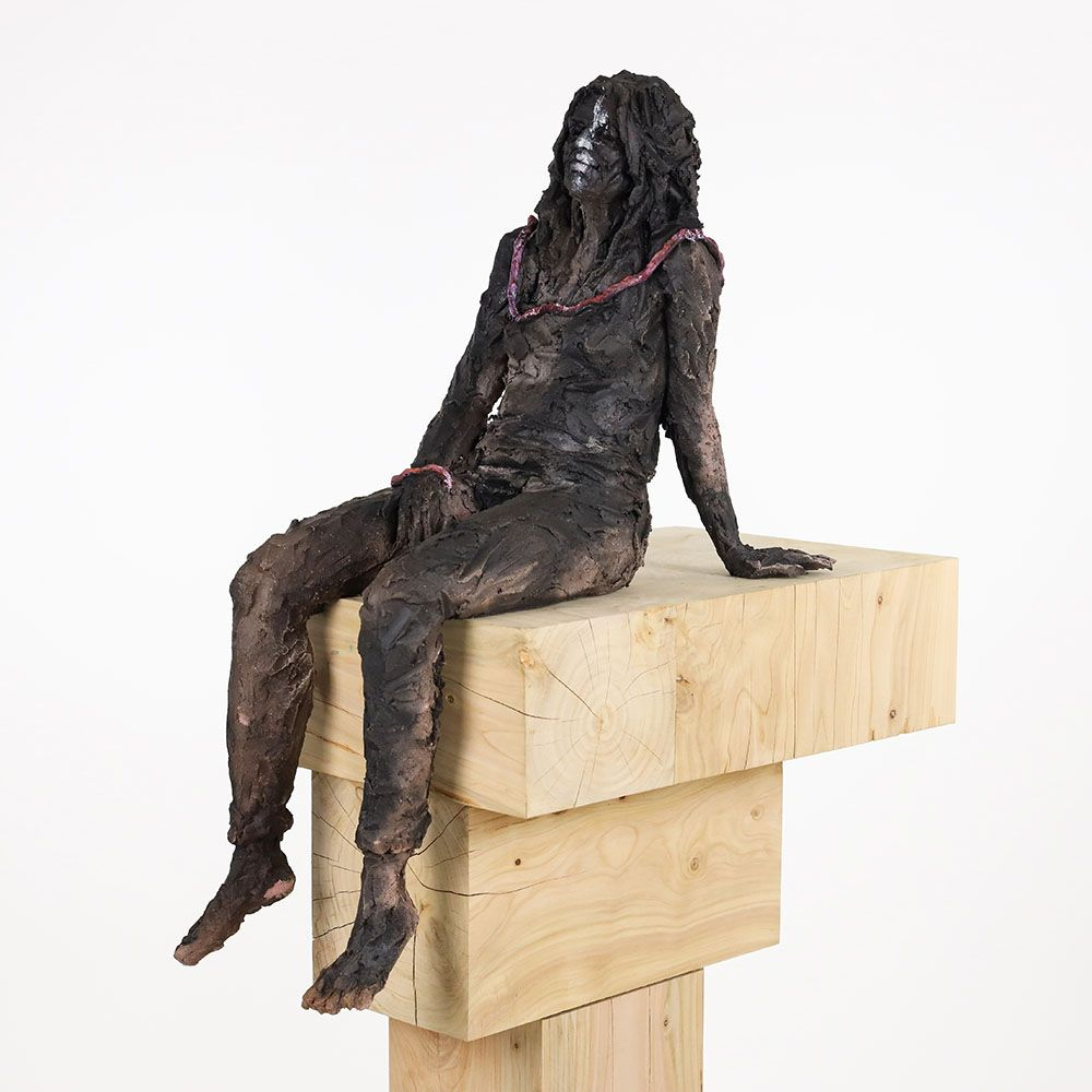 Woman with cord - Cécile Raynal - Sculpture - detail 4