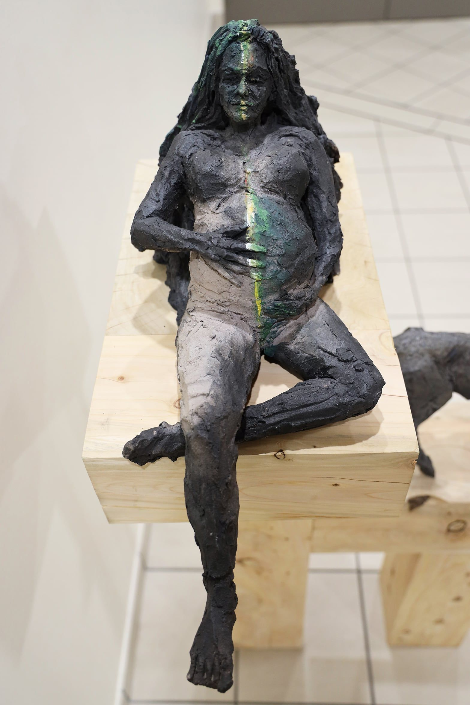 Femme Grotte,Cécile Raynal,Sculpture contemporaine, detail 2