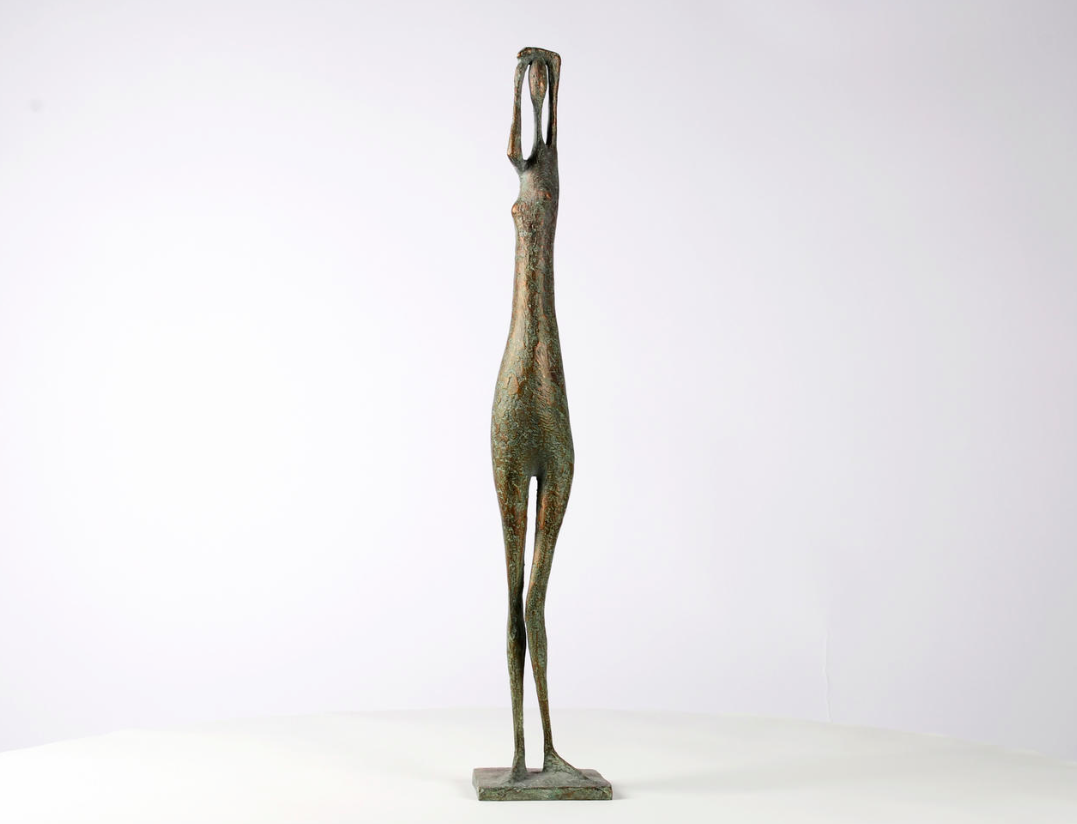 Arms Raised Standing Figure VIII,Pierre Yermia,Sculpture