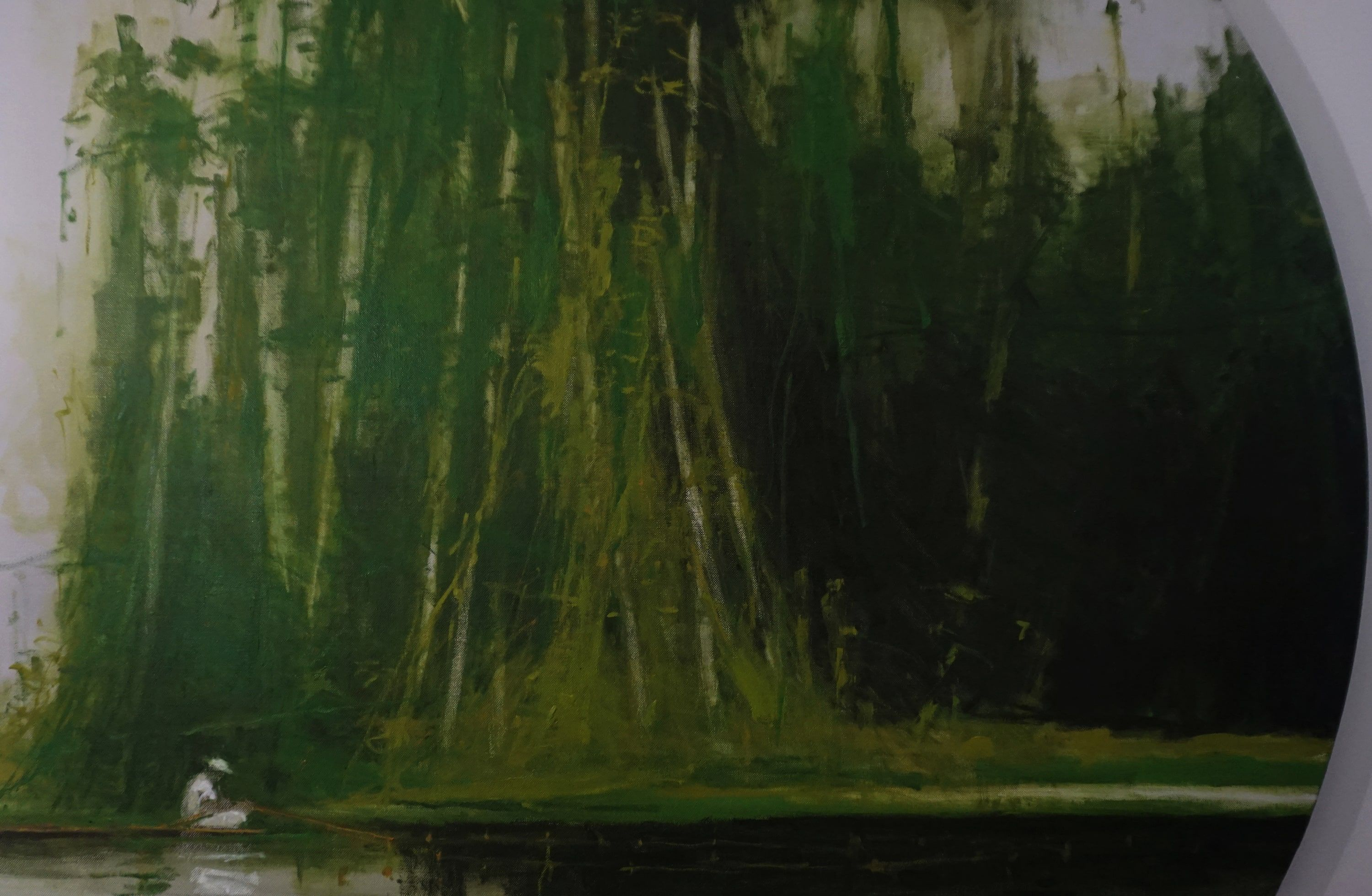 Fishermen on river Nanay 2 - Calo  Carratalá - Contemporary painting - detail 3