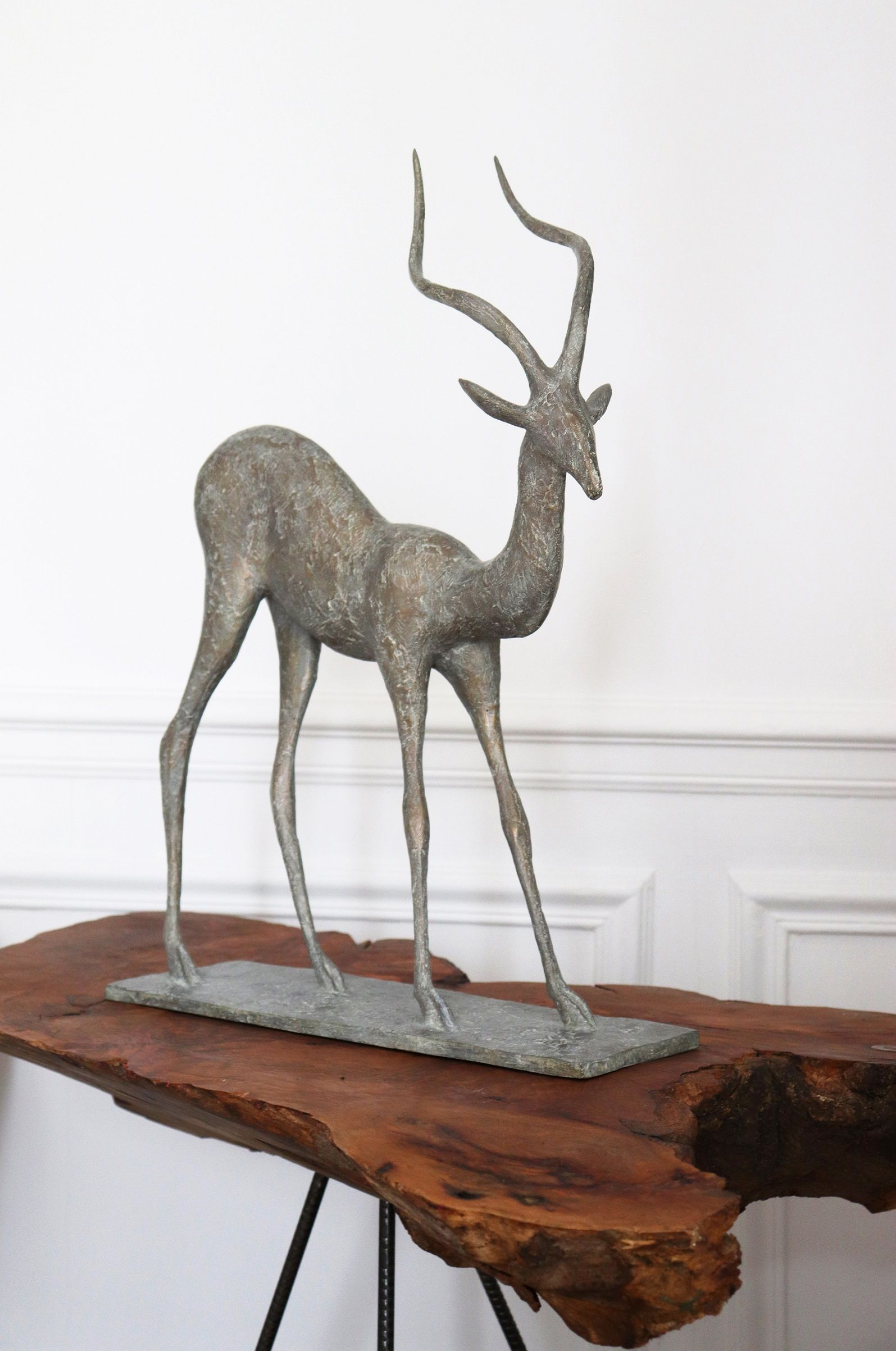 Gazelle III,Pierre Yermia,Sculpture, detail 4