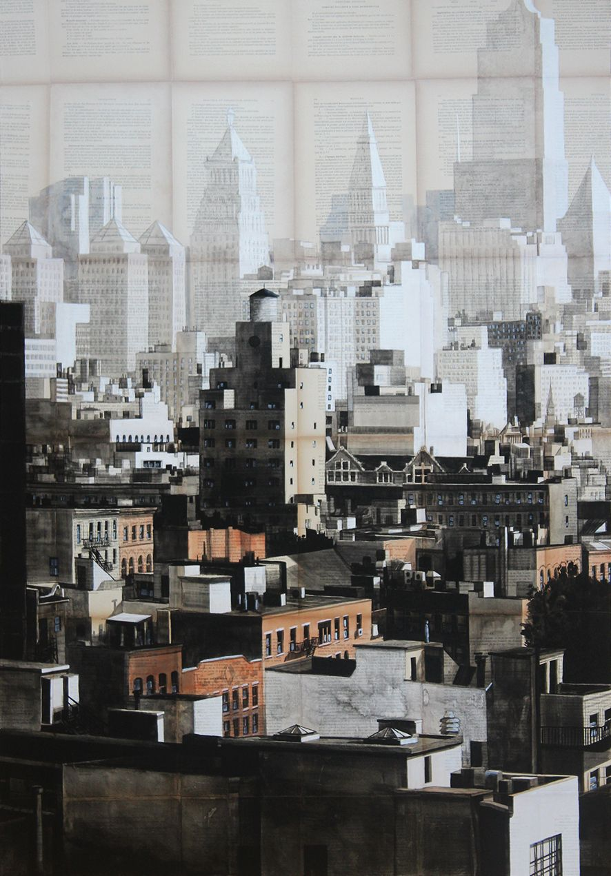 Gotham,Guillaume Chansarel,Contemporary painting