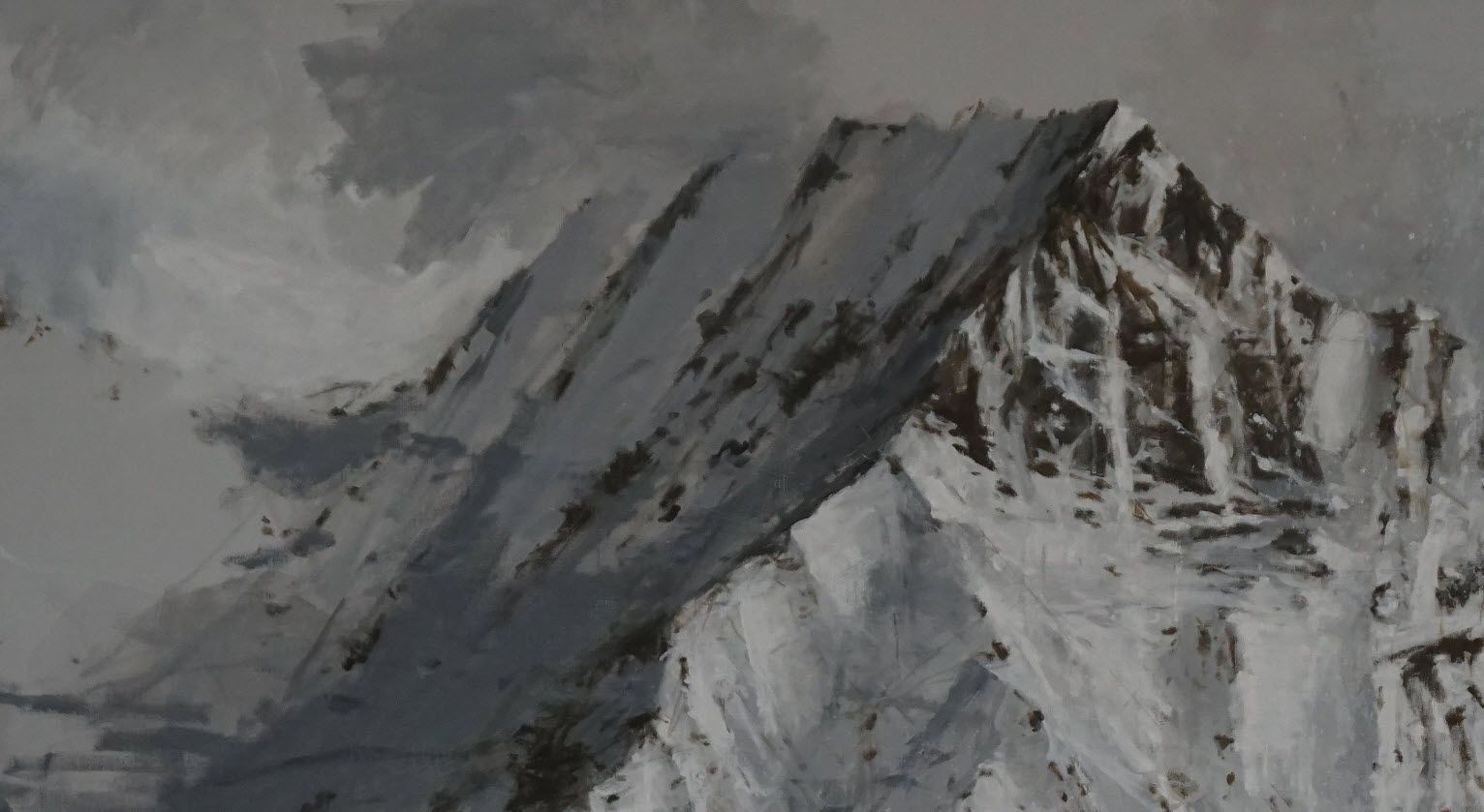 Big Benasque 1, Snow collection,Calo  Carratalá,Contemporary painting, detail 2
