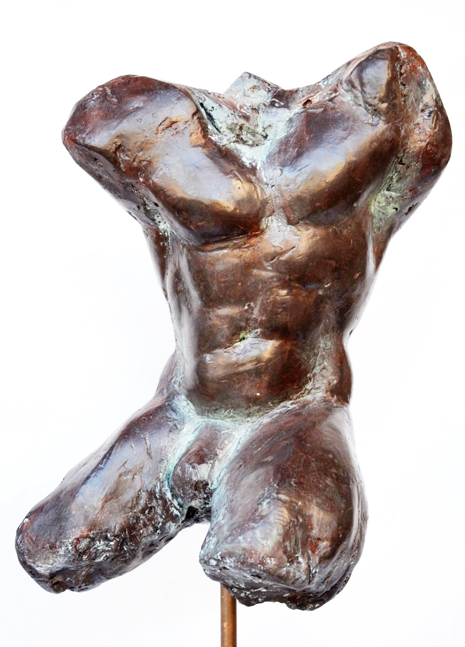Impressionist man torso III,Yann Guillon,Sculpture, detail 4