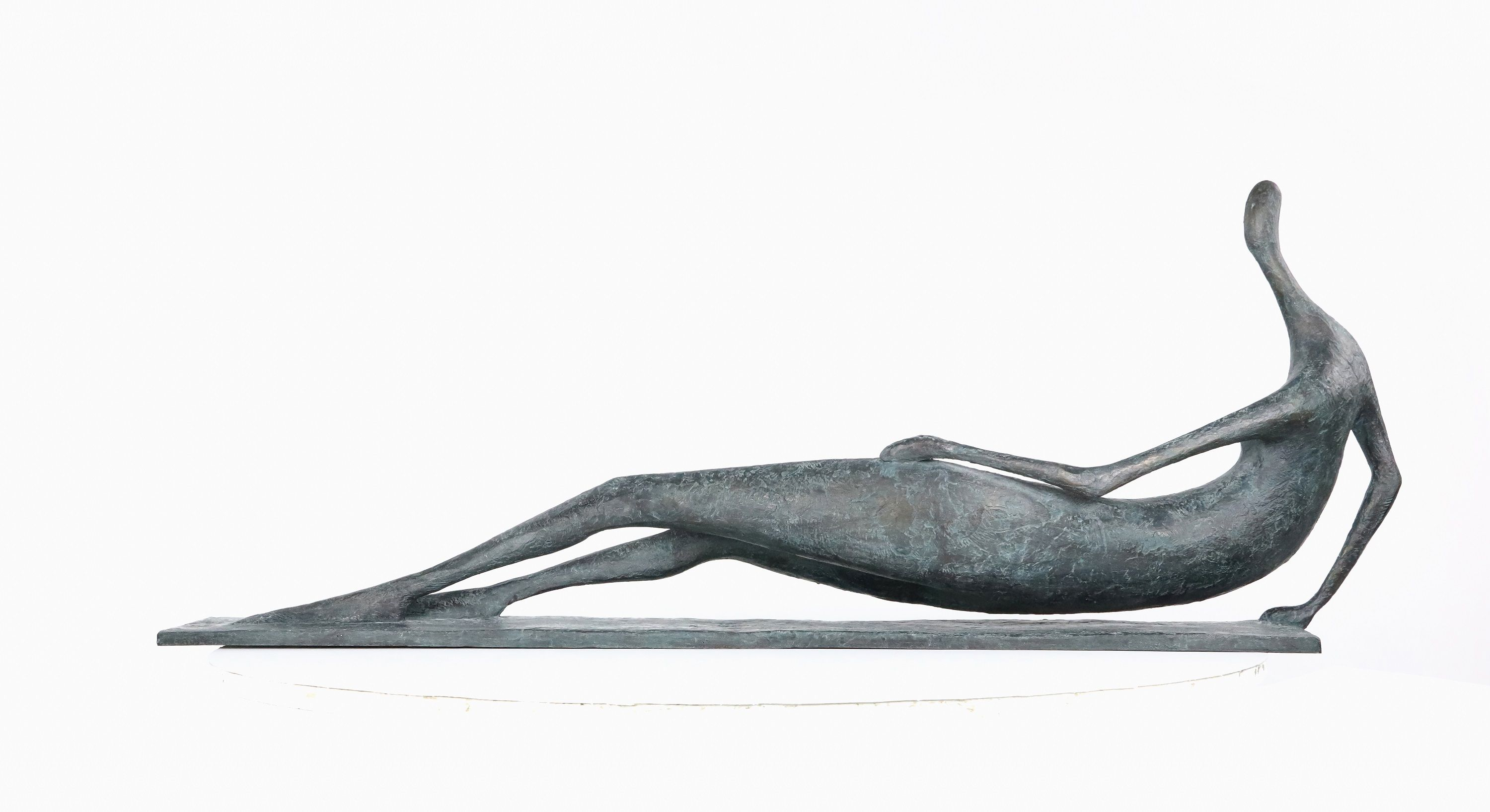 Large Lying Figure I ,Pierre Yermia,Sculpture, detail 2