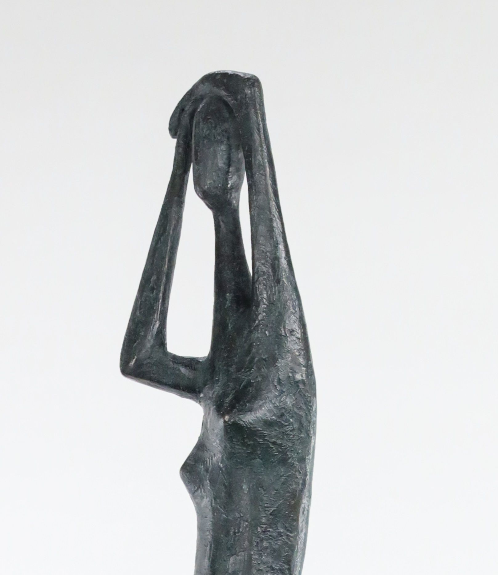 Great Arms Raised Standing Figure I - Pierre Yermia - Sculpture - detail 4