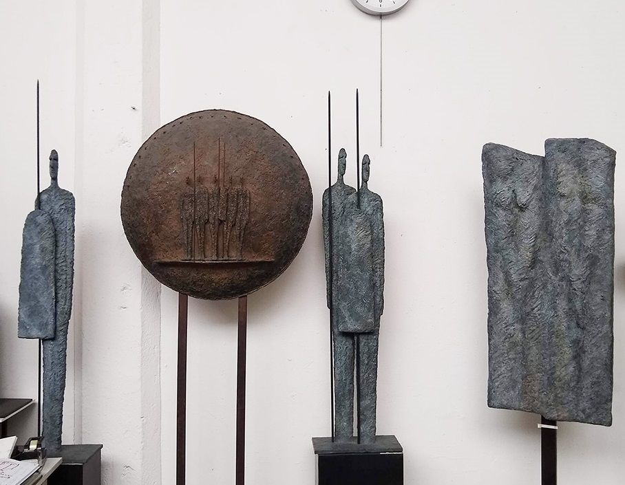 Great Warriors, Primary Forms series - Martine Demal - Sculpture - detail 4