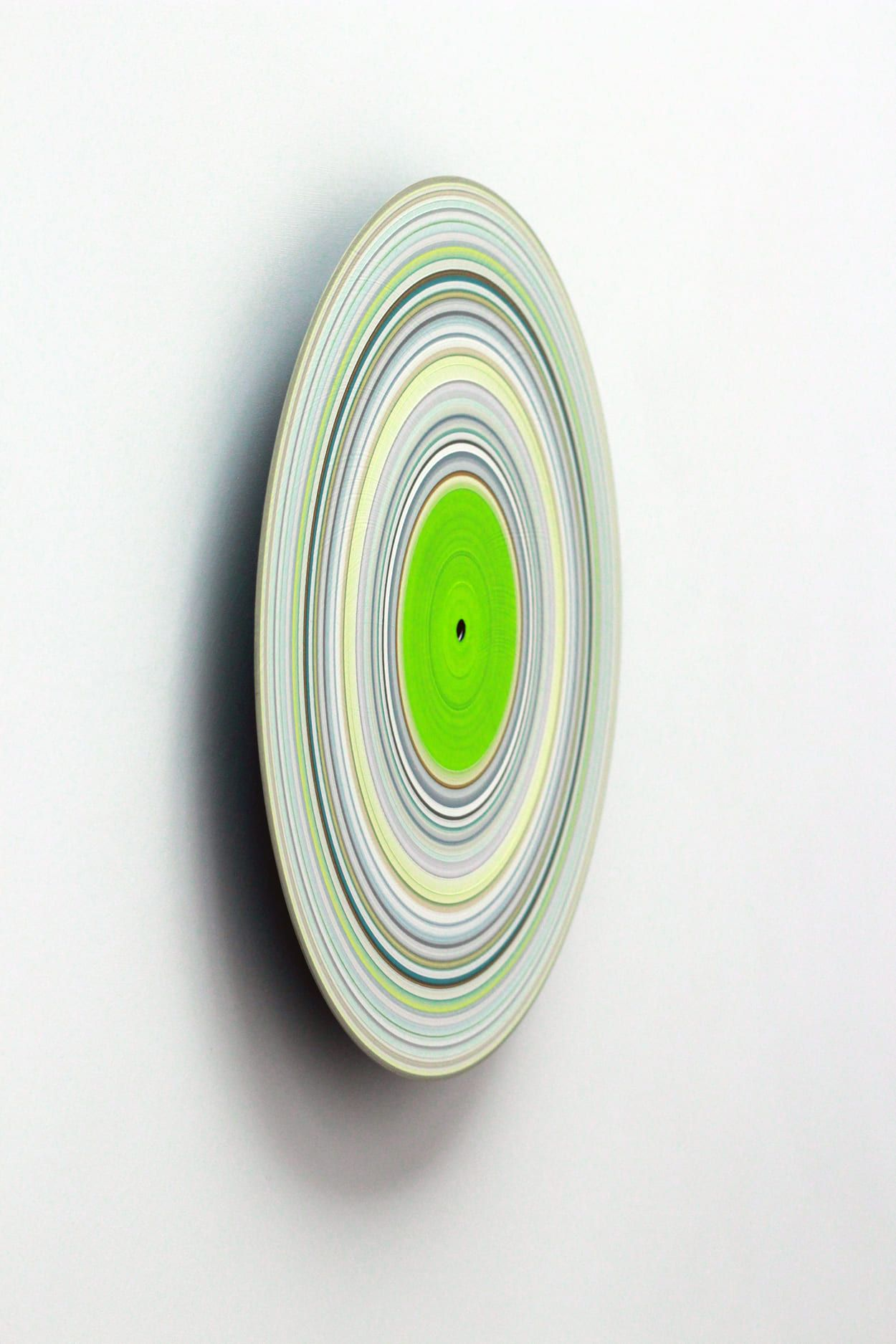 Green Edition No.15,Doris Marten,Peinture contemporaine, detail 1