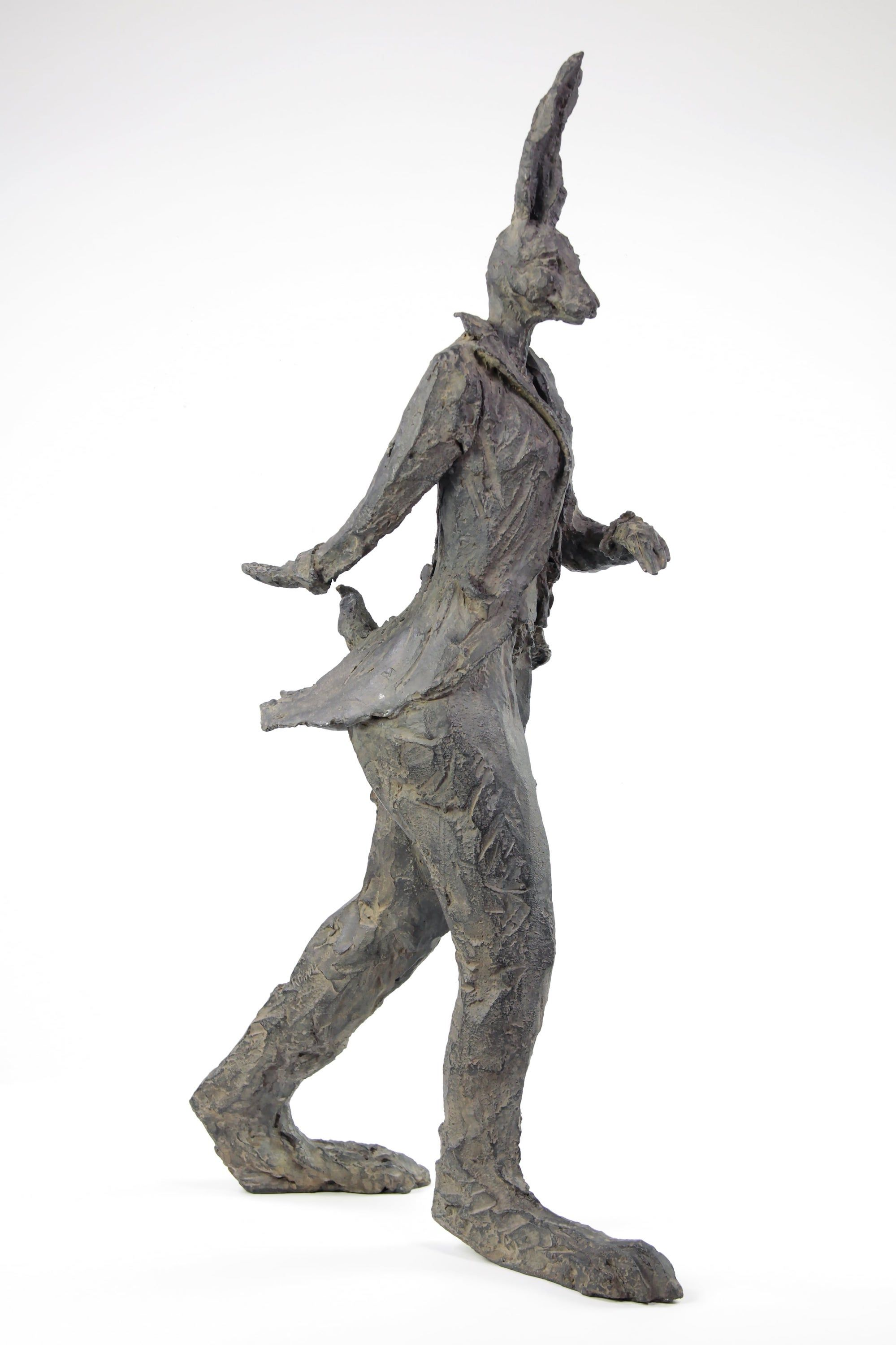 Walking Hare (bronze),Cécile Raynal,Sculpture