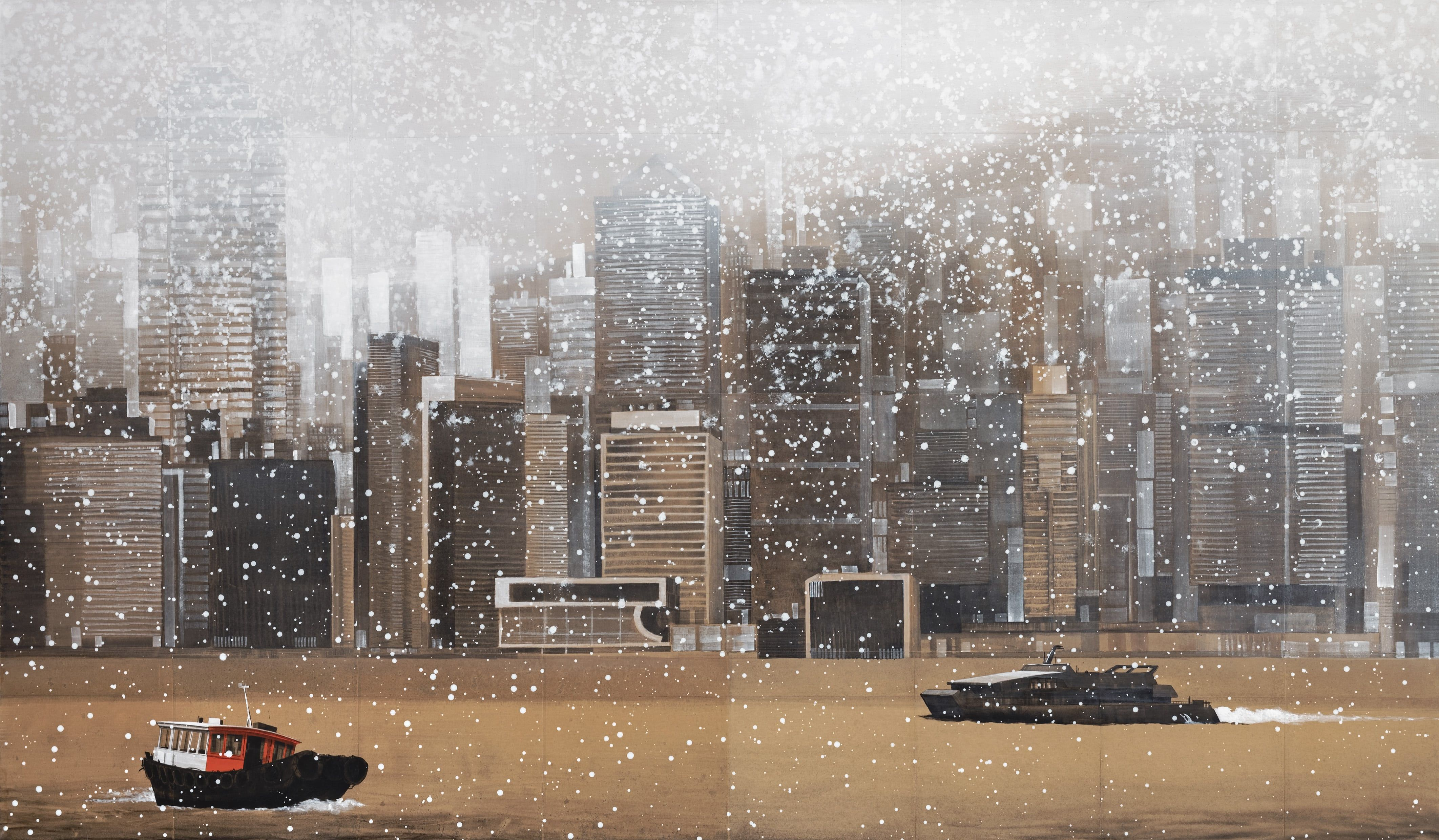 HK Bay,Guillaume Chansarel,Peinture contemporaine