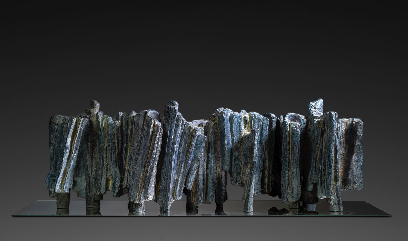 Sculpture - Martine Demal - Writing is a Journey, Signs & Writings series