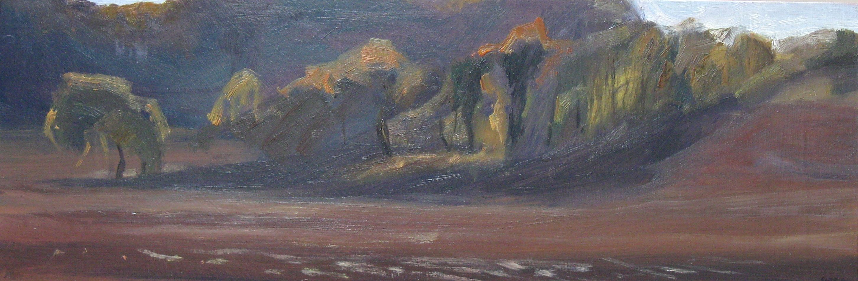 Contemporary painting - Valérie de Sarrieu - The Hedge on the 22nd of November 2017 at 3PM
