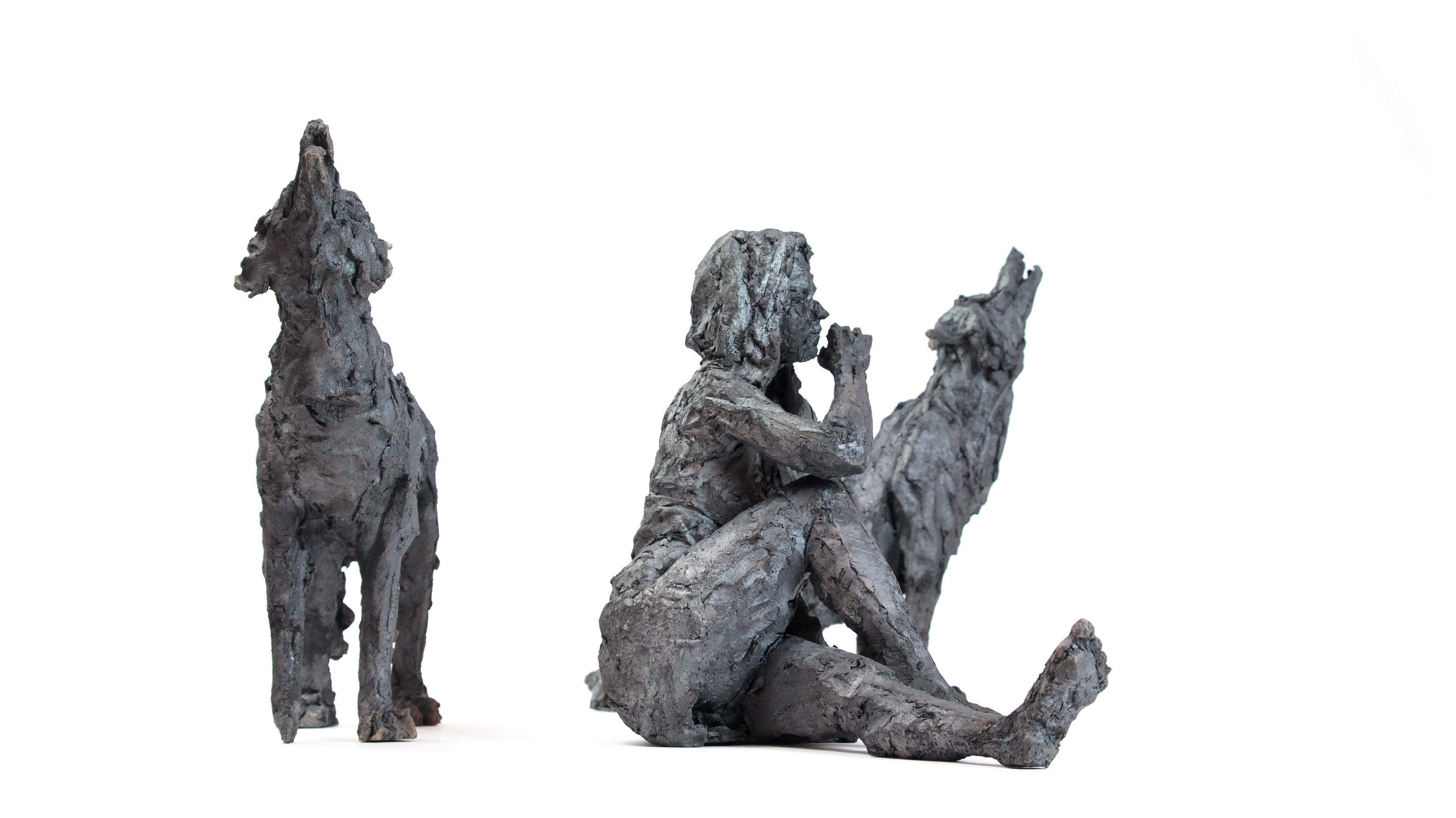 Wolf Pack,Cécile Raynal,Sculpture, detail 1