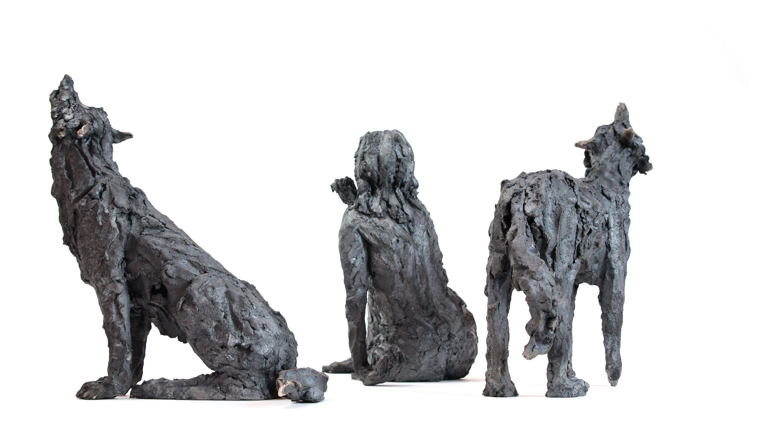Wolf Pack,Cécile Raynal,Sculpture, detail 2