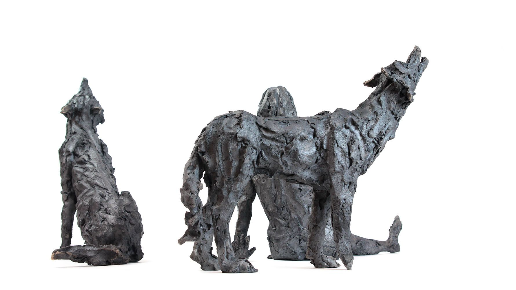 Wolf Pack,Cécile Raynal,Sculpture, detail 4