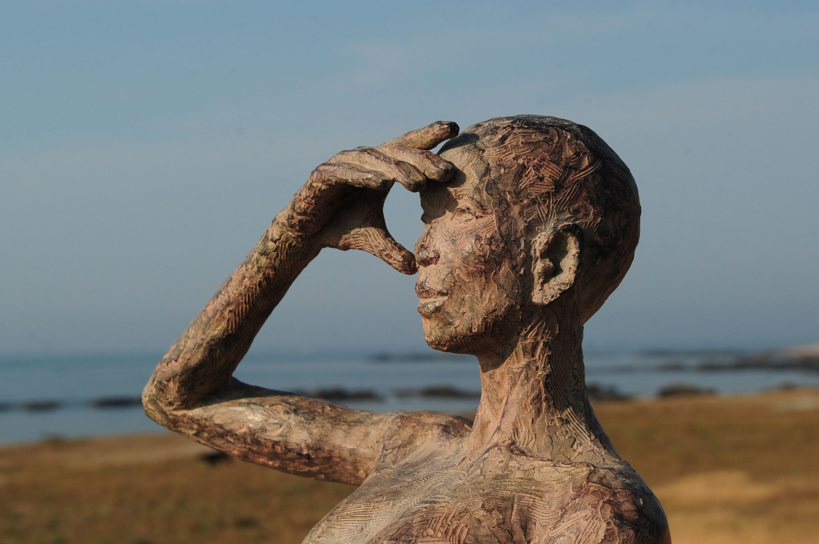 L'Attente,Marine de Soos,Sculpture contemporaine, detail 1