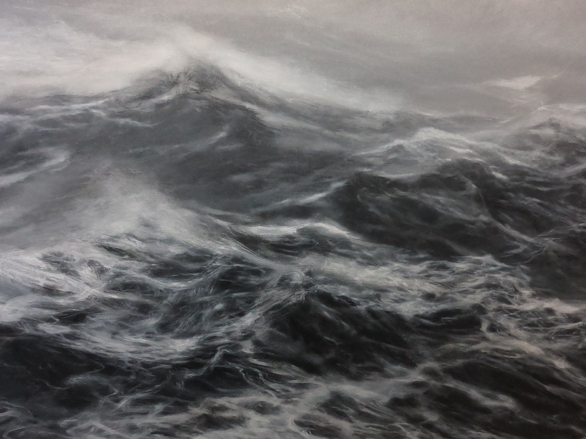 The kingdom of the wind,Franco Salas Borquez,Contemporary painting, detail 3