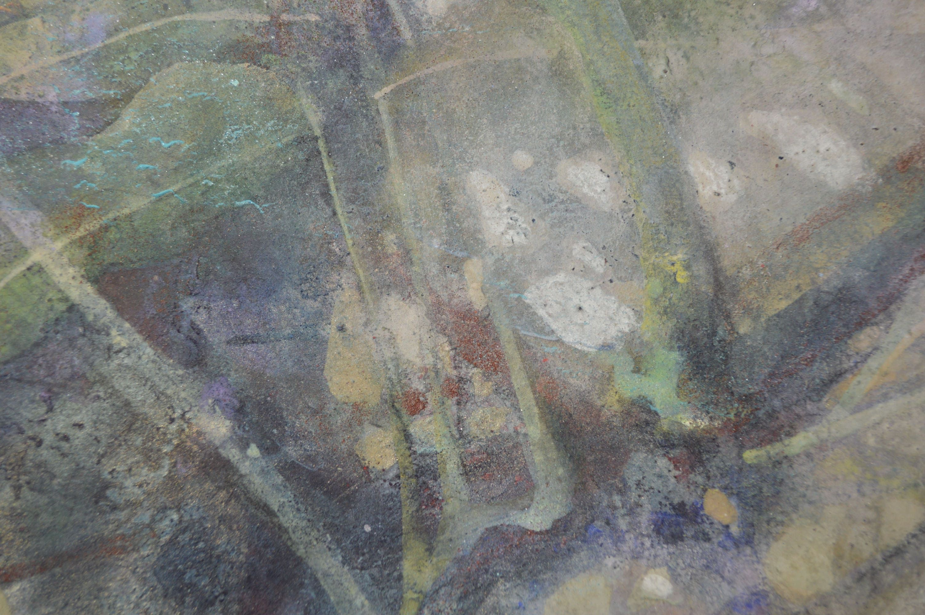 le temps écoulé,Chen Yiching,Contemporary painting, detail 3