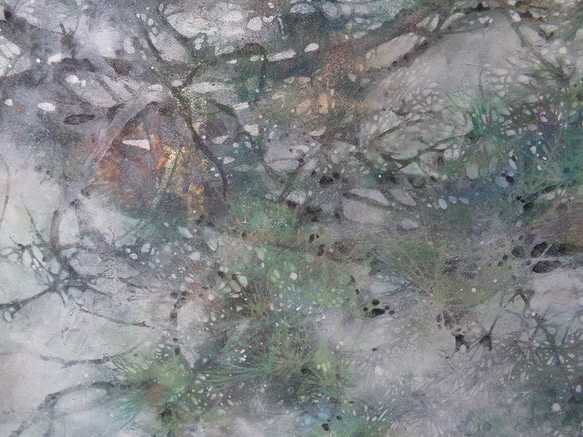 The summer wind,Chen Yiching,Contemporary painting, detail 3
