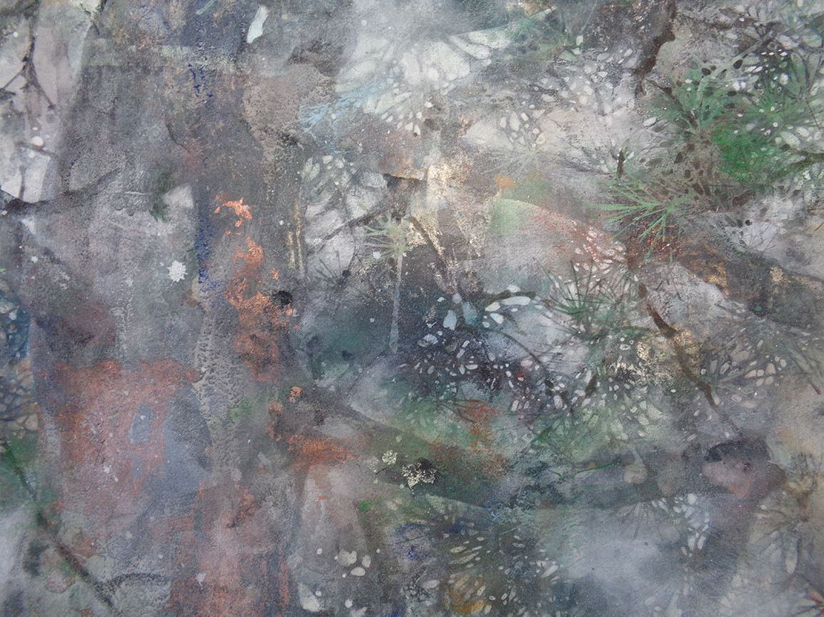 The summer wind,Chen Yiching,Contemporary painting, detail 4
