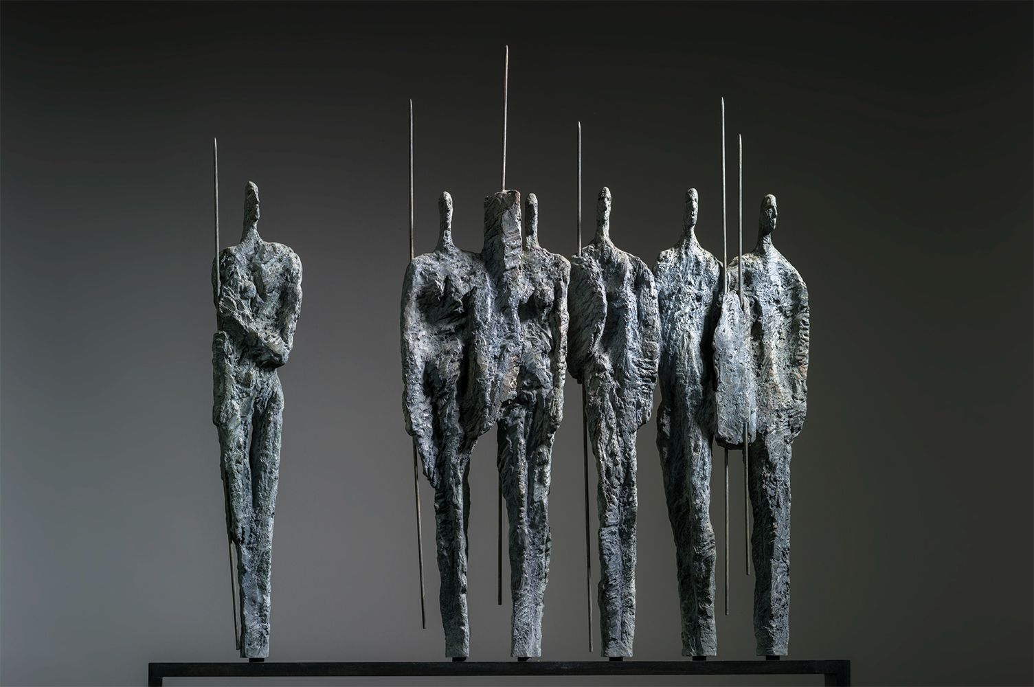 The Warriors, Primary Forms series,Martine Demal,Sculpture, detail 1