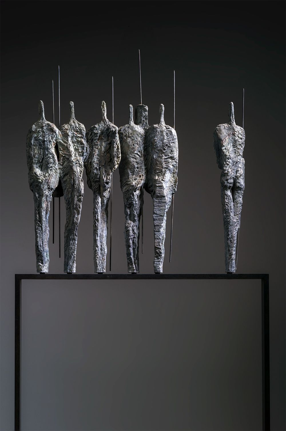 The Warriors, Primary Forms series,Martine Demal,Sculpture, detail 3
