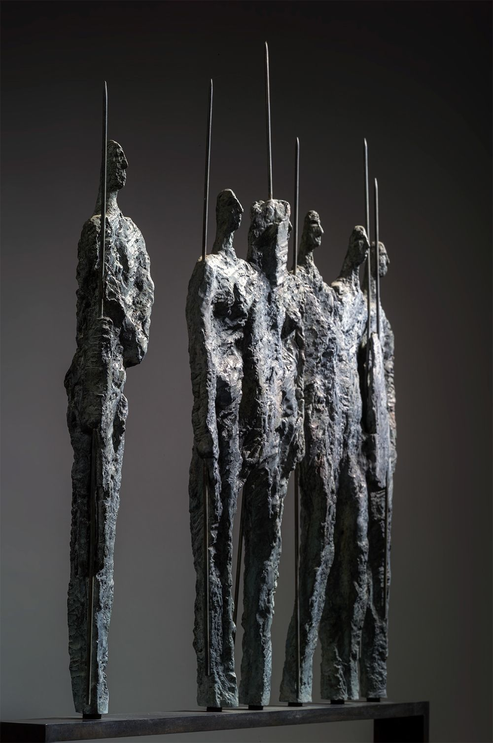 The Warriors, Primary Forms series,Martine Demal,Sculpture, detail 2