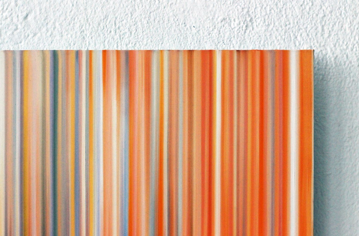 Light'n'Lines No.15 (BlackWhiteOrange),Doris Marten,Contemporary painting, detail 3