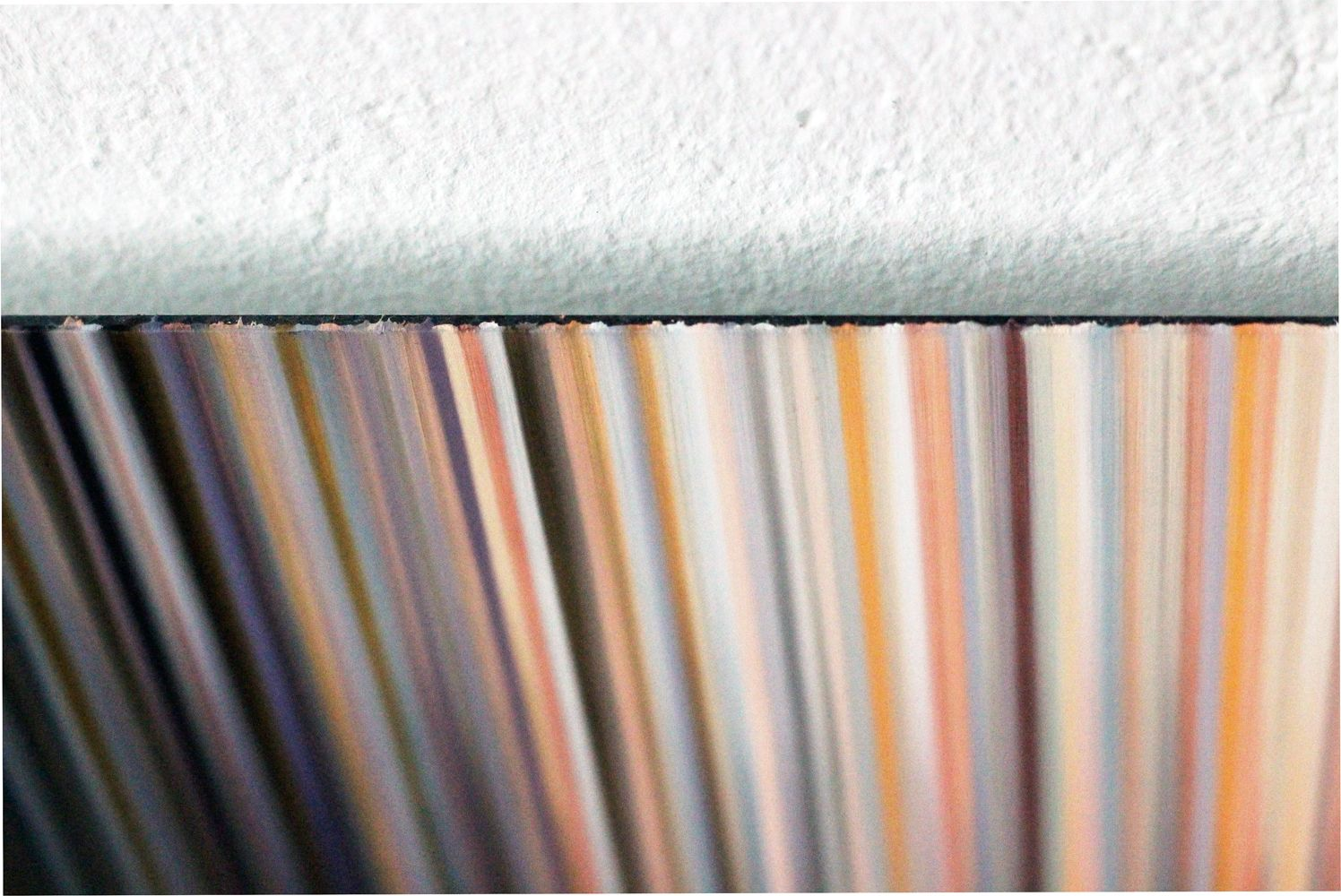 Light'n'Lines No.15 (BlackWhiteOrange),Doris Marten,Peinture contemporaine, detail 4