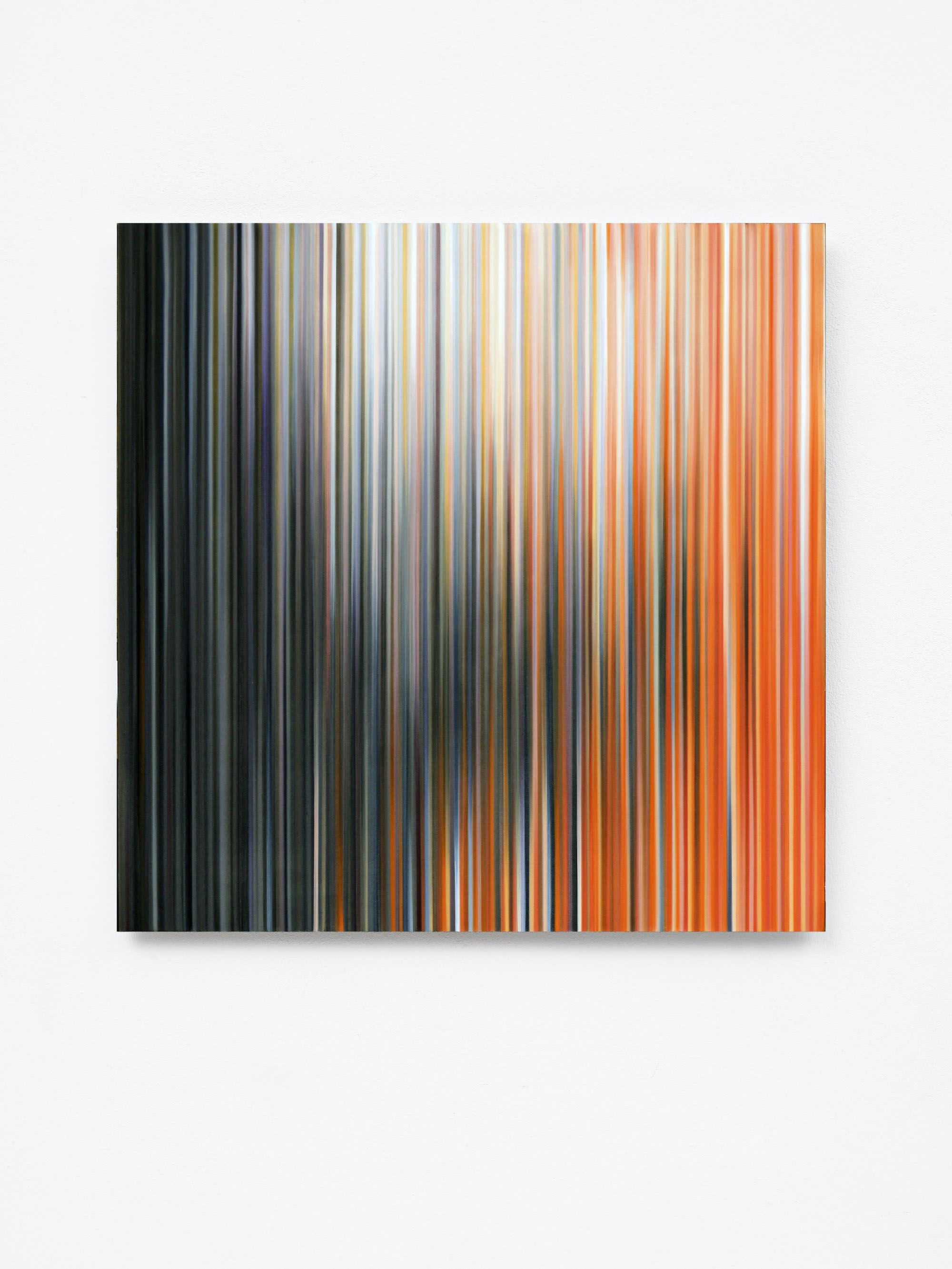 Light'n'Lines No.15 (BlackWhiteOrange),Doris Marten,Peinture contemporaine