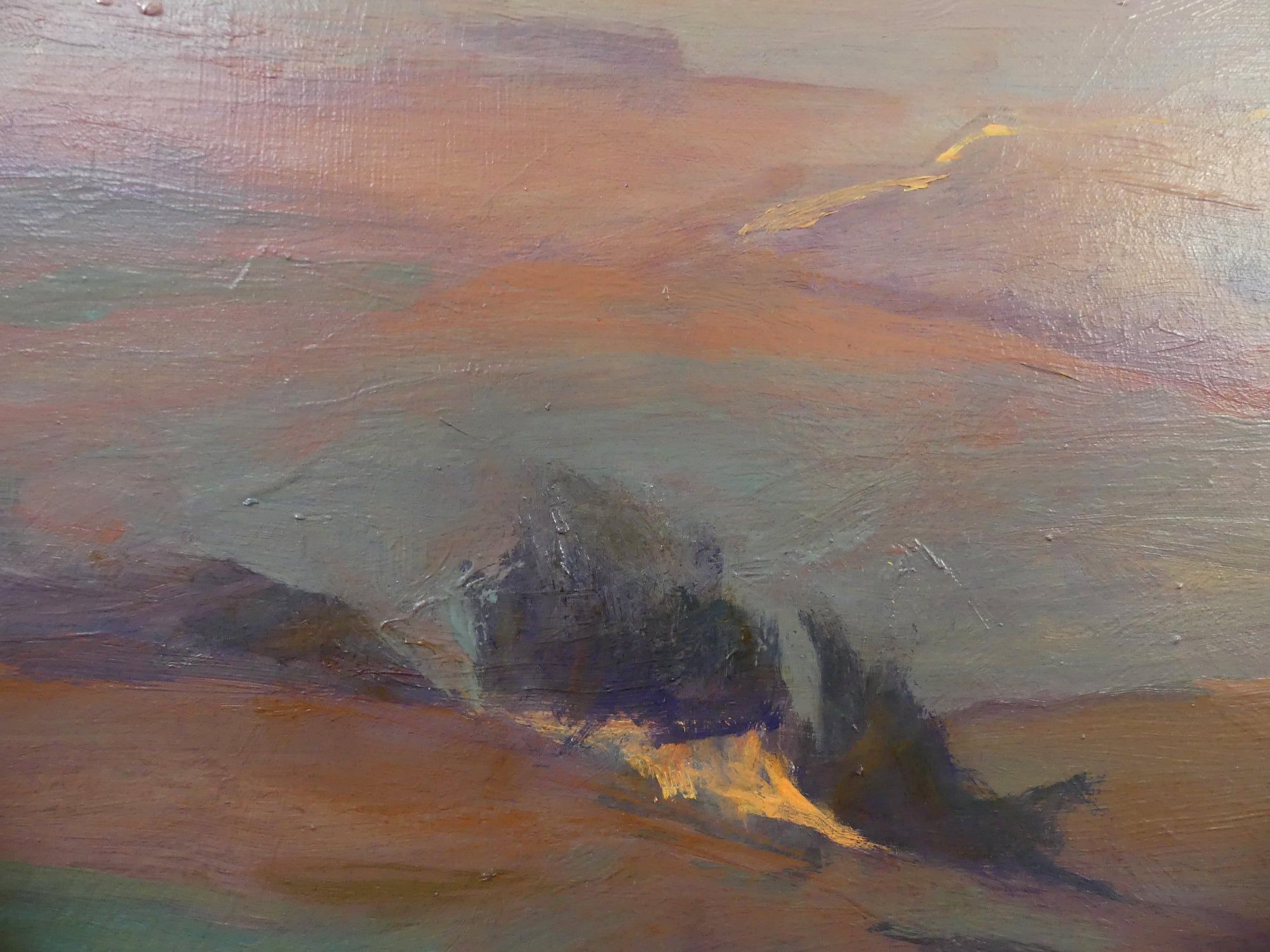 Purple landscapes,Valérie de Sarrieu,Contemporary painting, detail 1