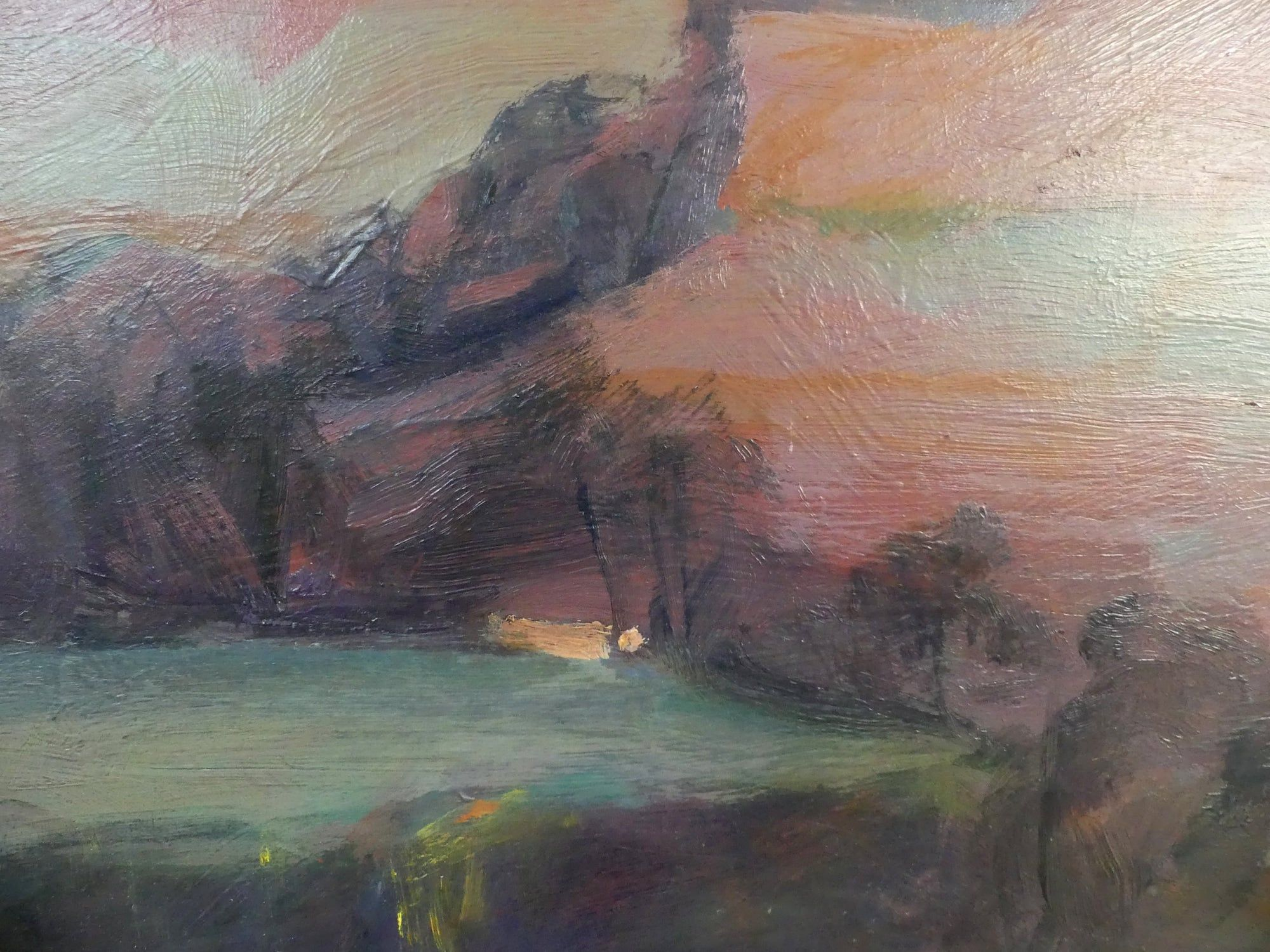 Purple landscapes,Valérie de Sarrieu,Contemporary painting, detail 2