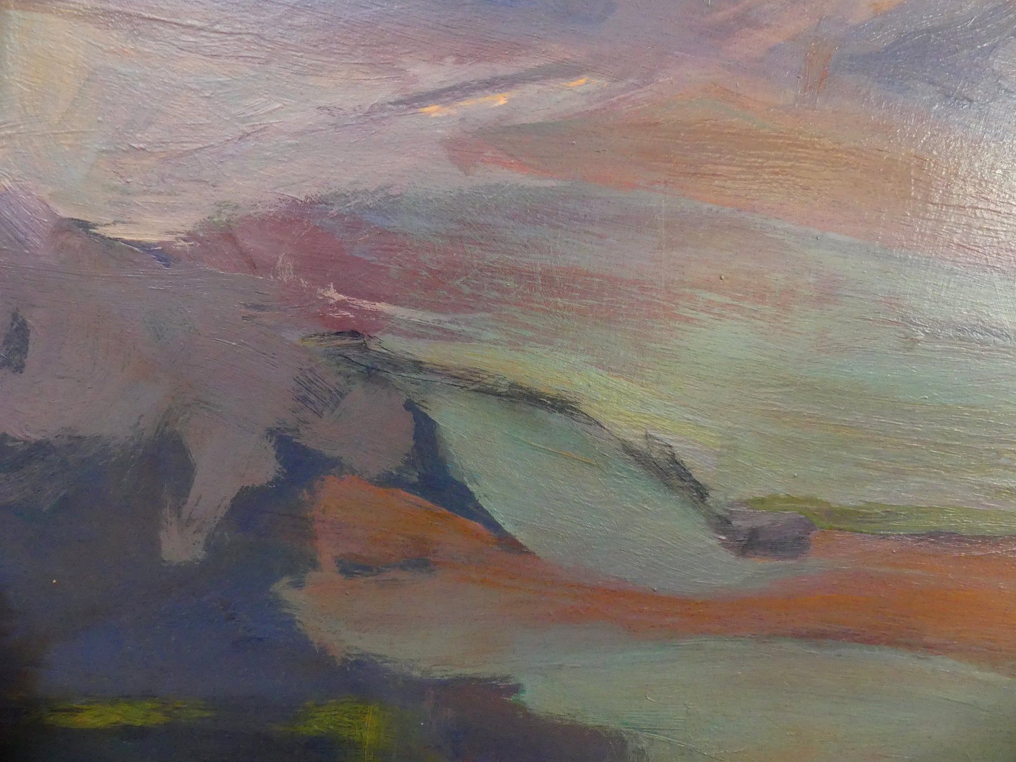 Purple landscapes,Valérie de Sarrieu,Contemporary painting, detail 3