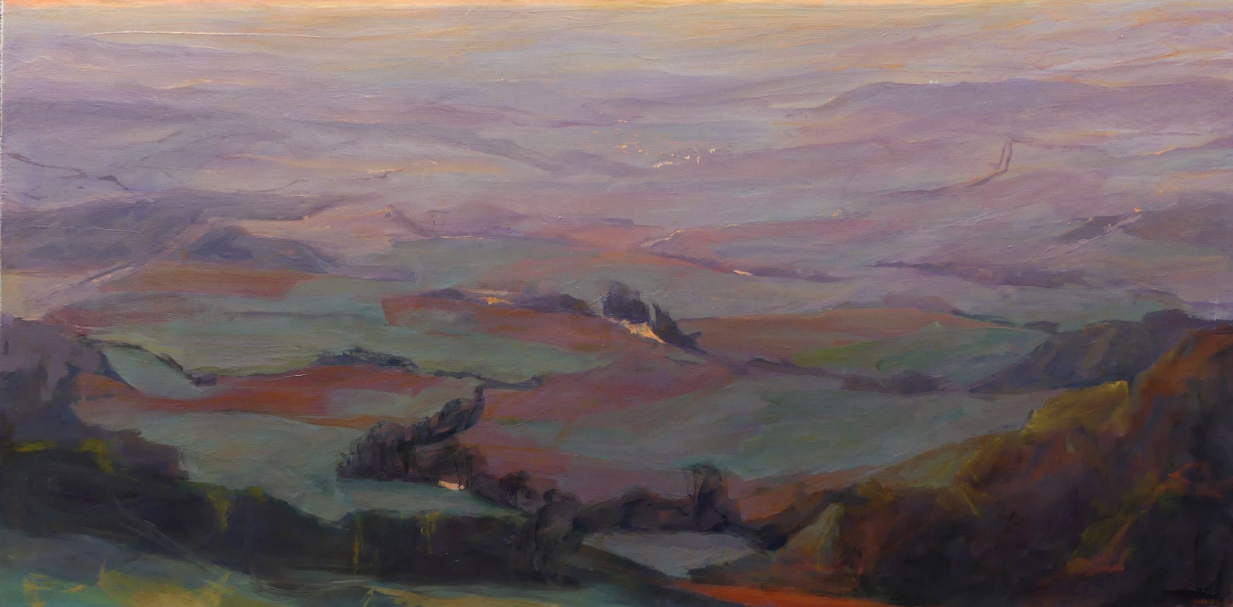 Purple landscapes,Valérie de Sarrieu,Contemporary painting