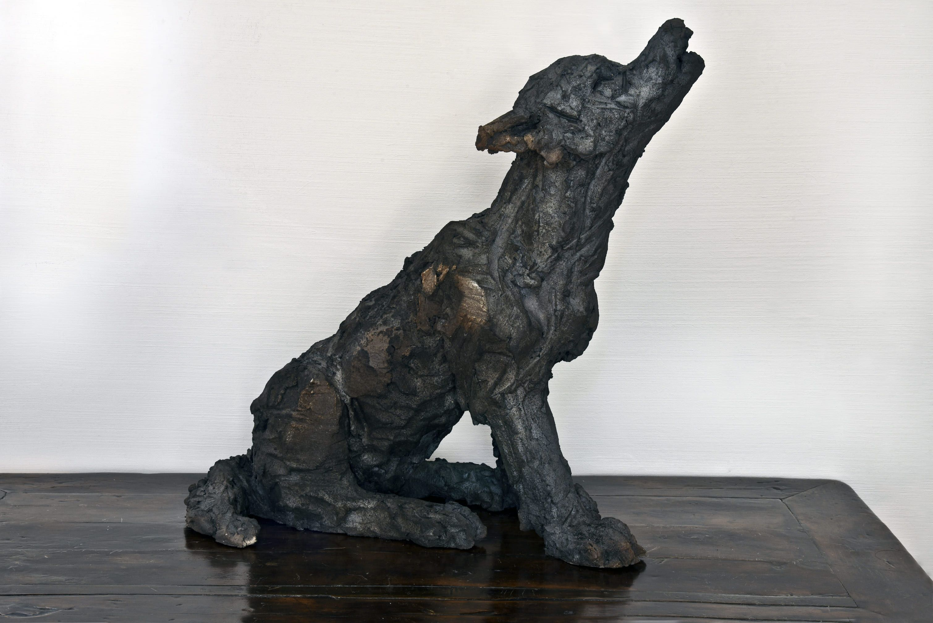 Wolf Cub,Cécile Raynal,Sculpture, detail 2