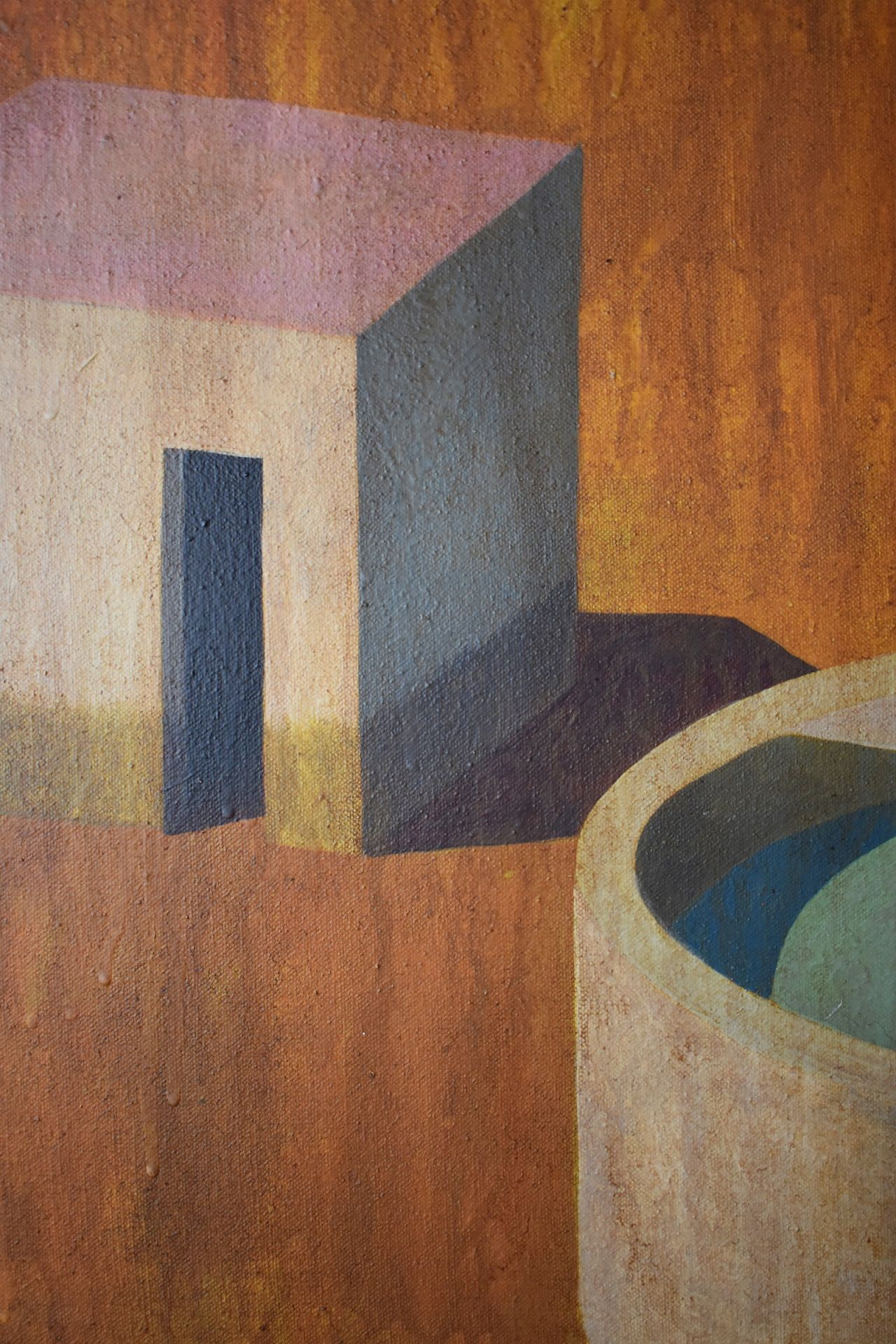 MAFI,Ramon Enrich,Contemporary painting, detail 2