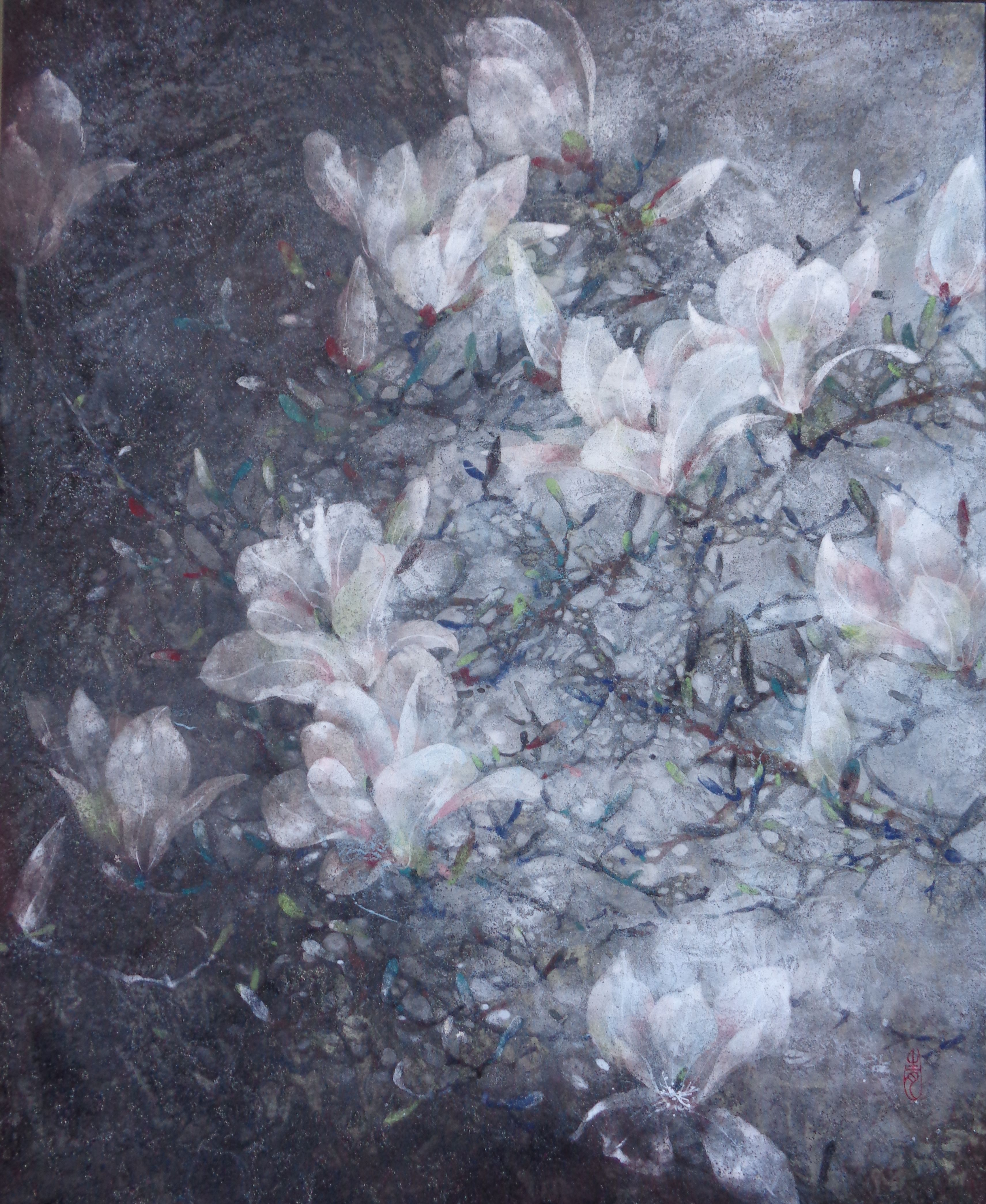 Magnolia,Chen Yiching,Contemporary painting