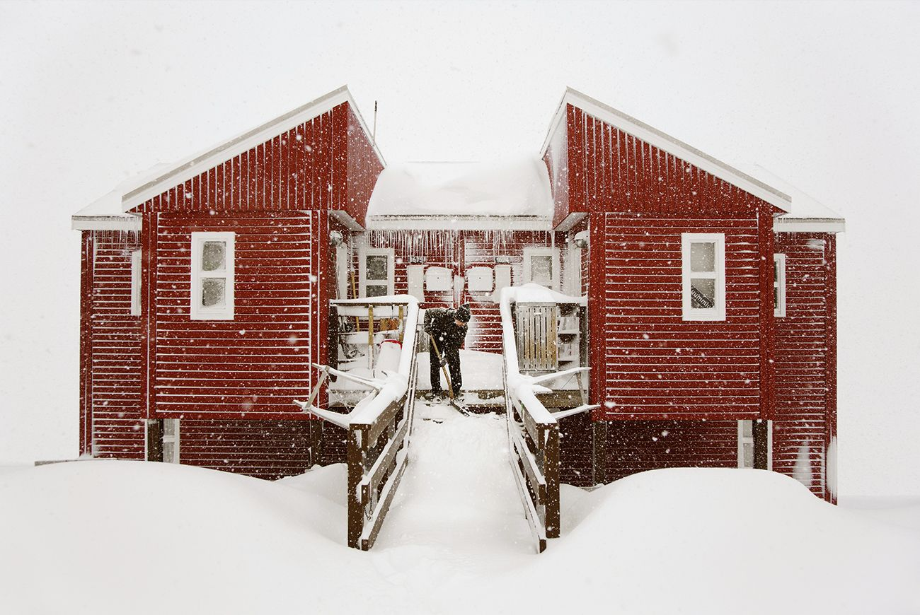 Maison toute rouge,Christophe Jacrot,Photographie contemporaine