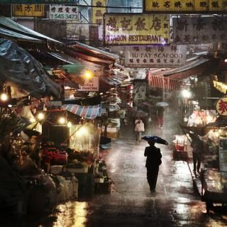 Hong Kong and Asia in the Rain