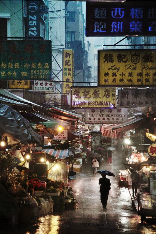 Market in the rain,Christophe Jacrot,Photography