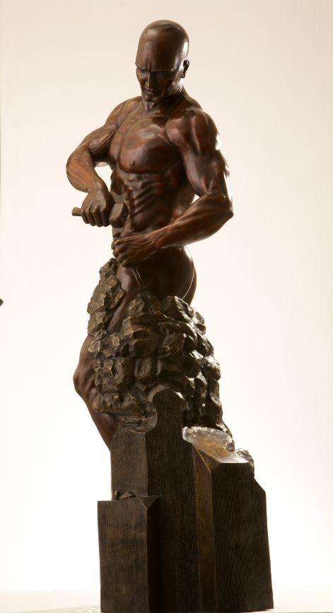 Sculpture - Walter Peter Brenner - Master of your own Destiny II - detail 1
