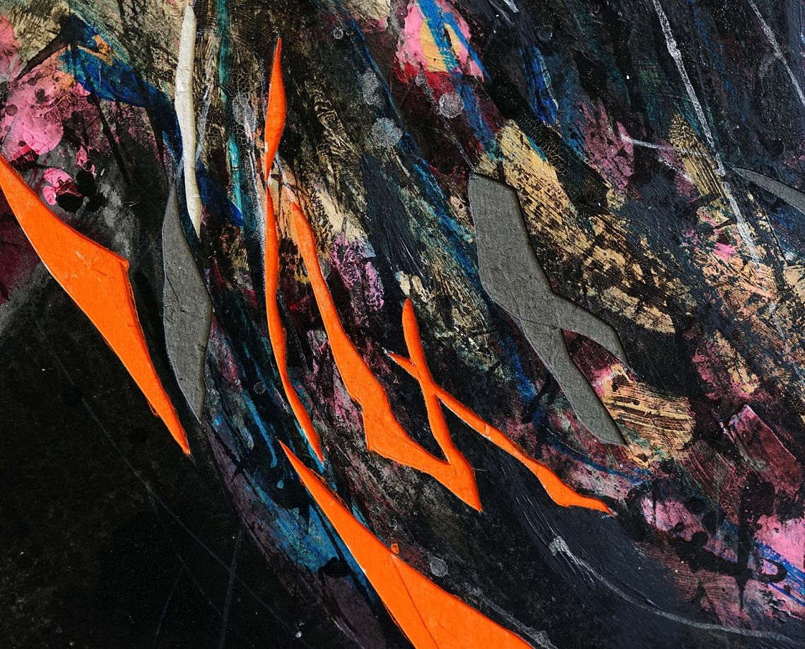 Contemporary painting - Hongyu Zhang - Nocturnal Melody 16 - detail 2