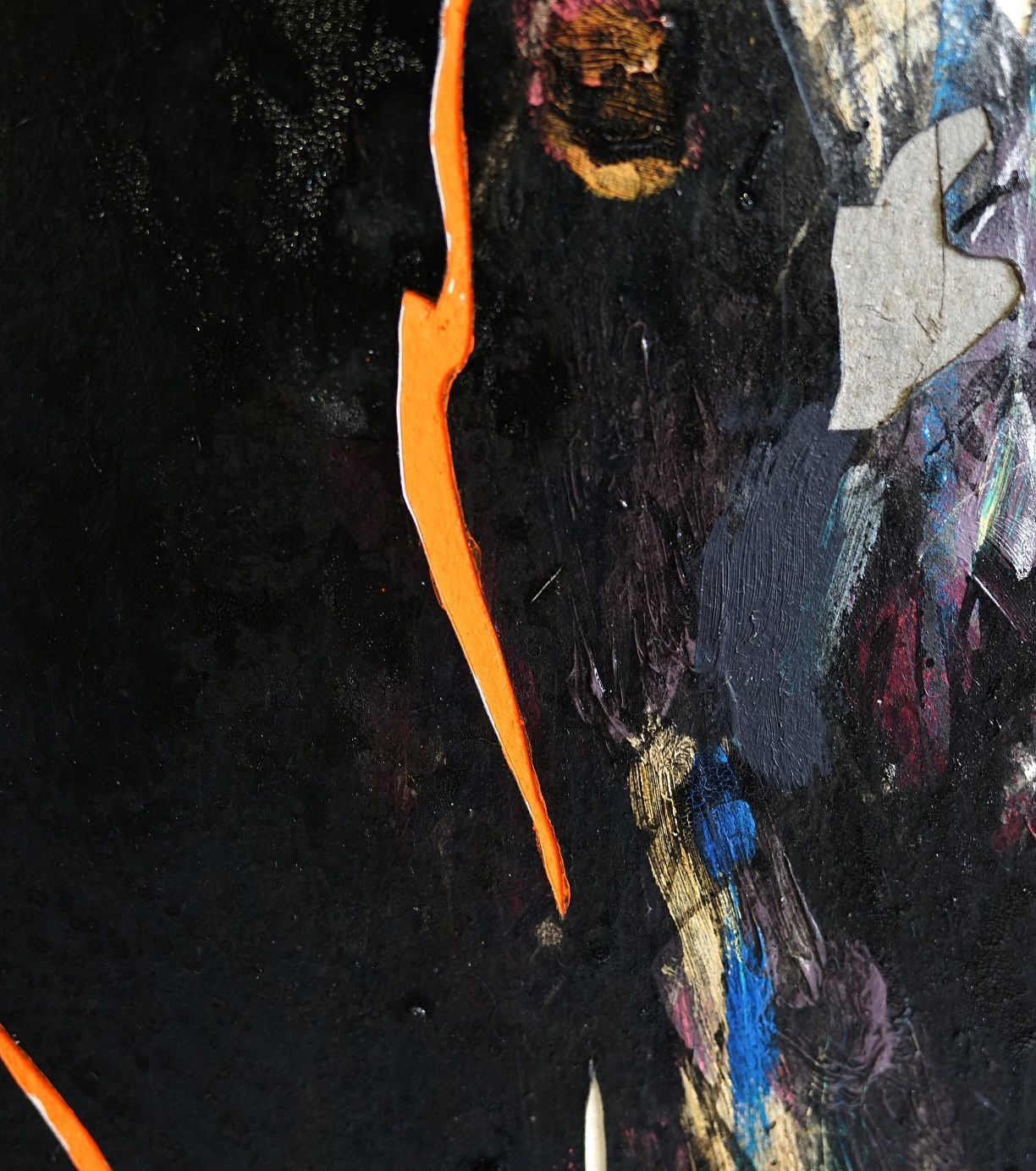 Nocturnal Melody 16,Hongyu Zhang,Contemporary painting, detail 3