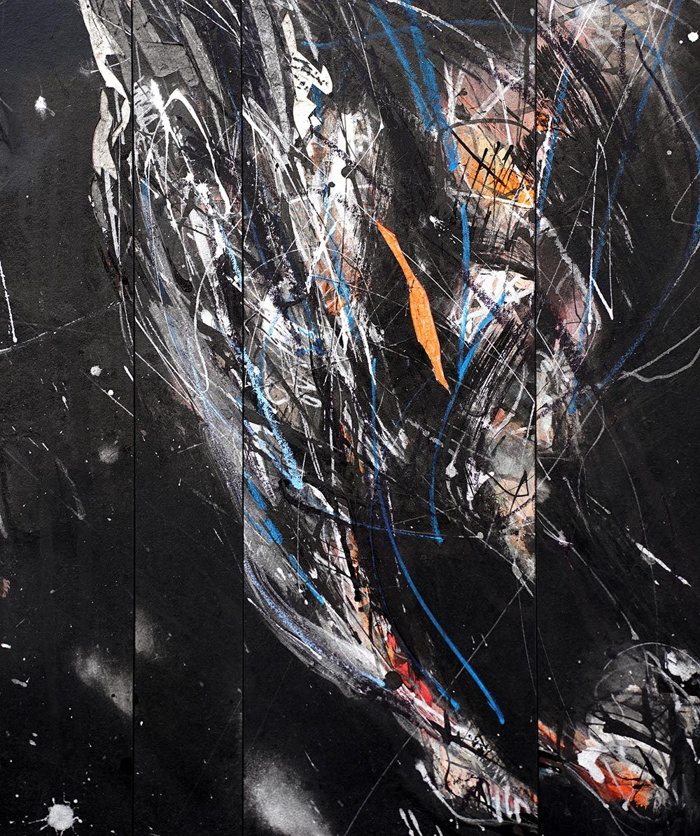 Contemporary painting - Hongyu Zhang - Nocturnal Melody 21 - detail 2