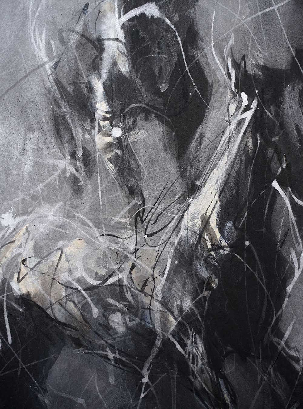 Contemporary painting - Hongyu Zhang - Nocturnal Melody 22 - detail 2